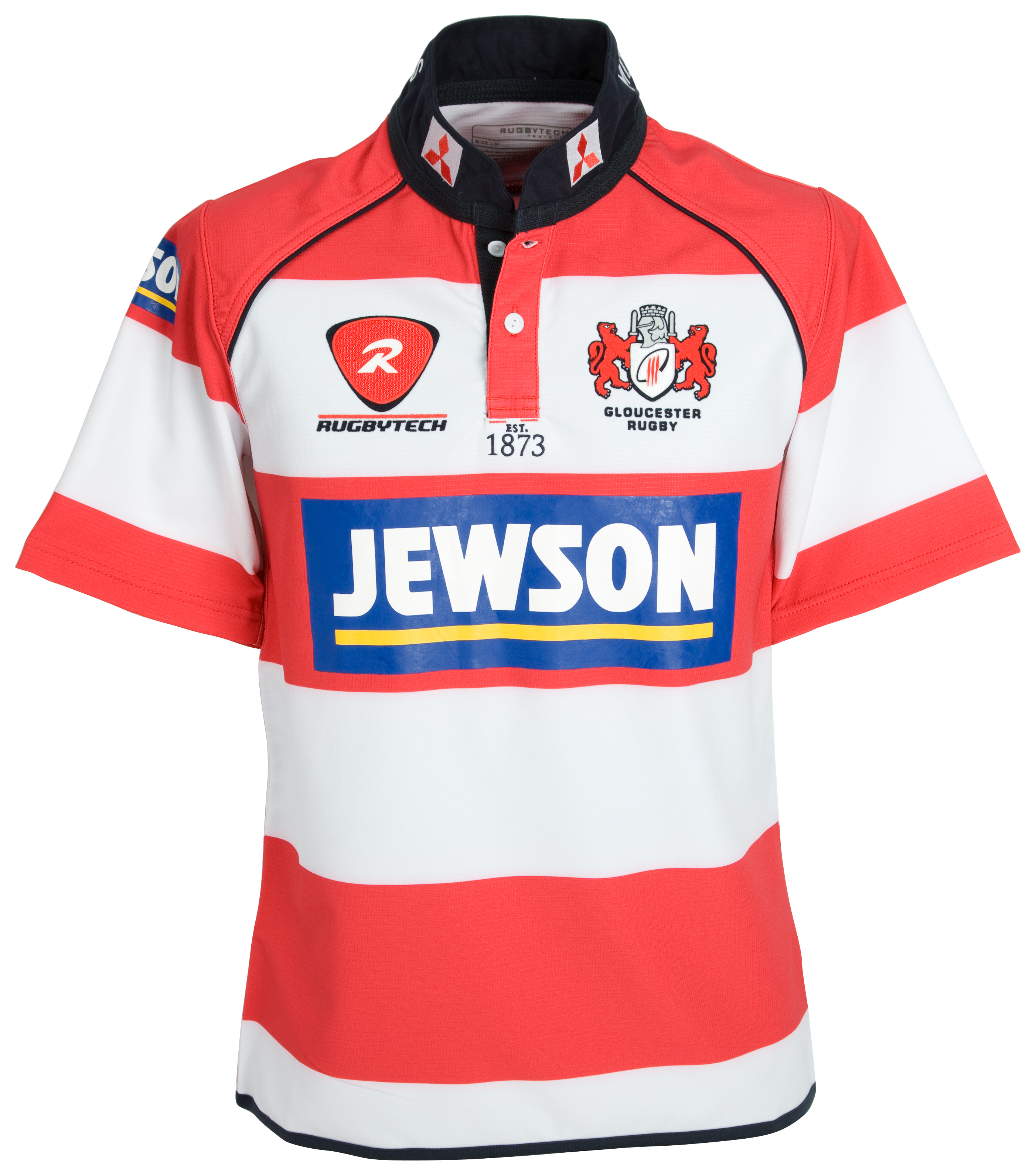 Gloucester Home Playing Rugby Shirt - Red/White