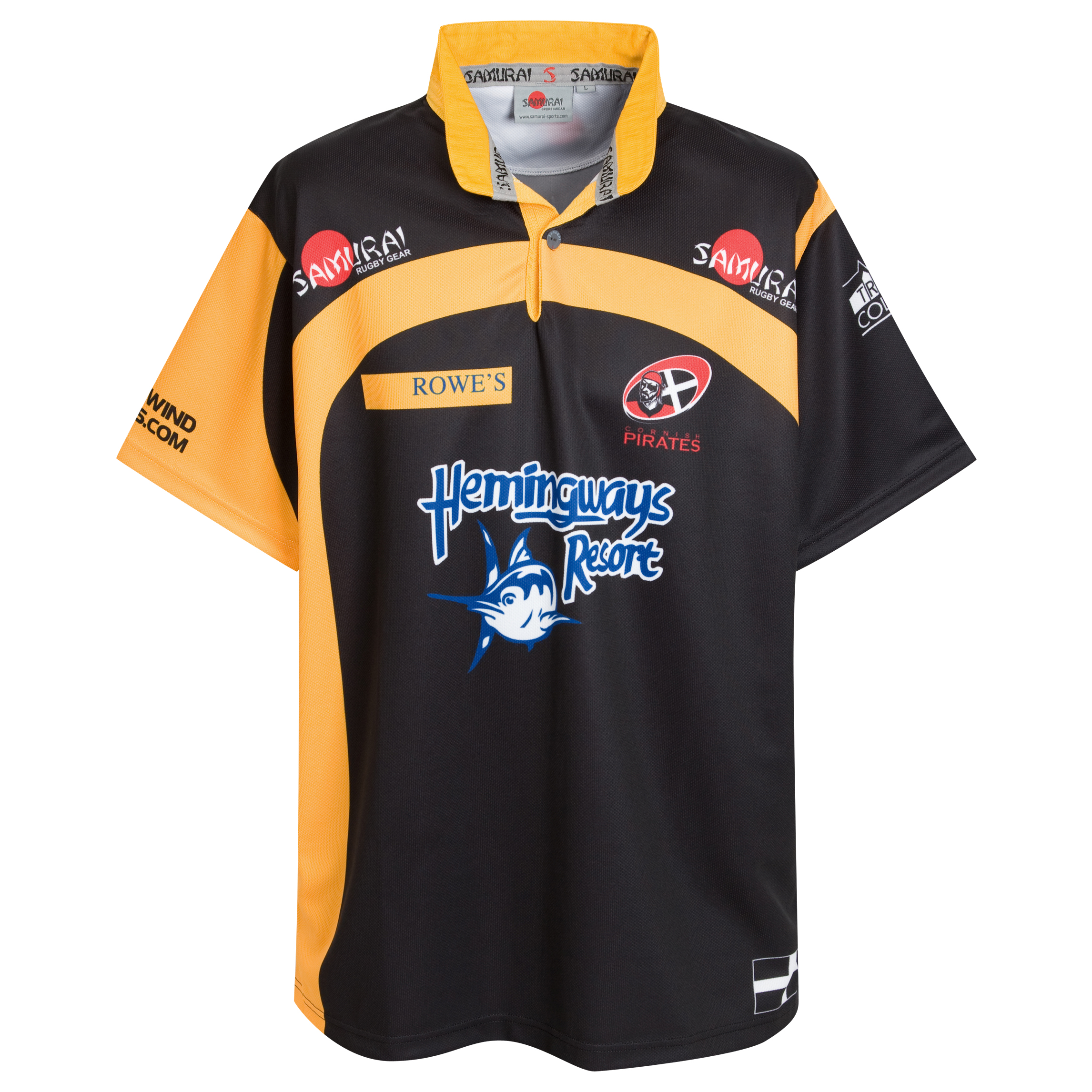 Cornish Pirates Away 2010 Rugby Shirt