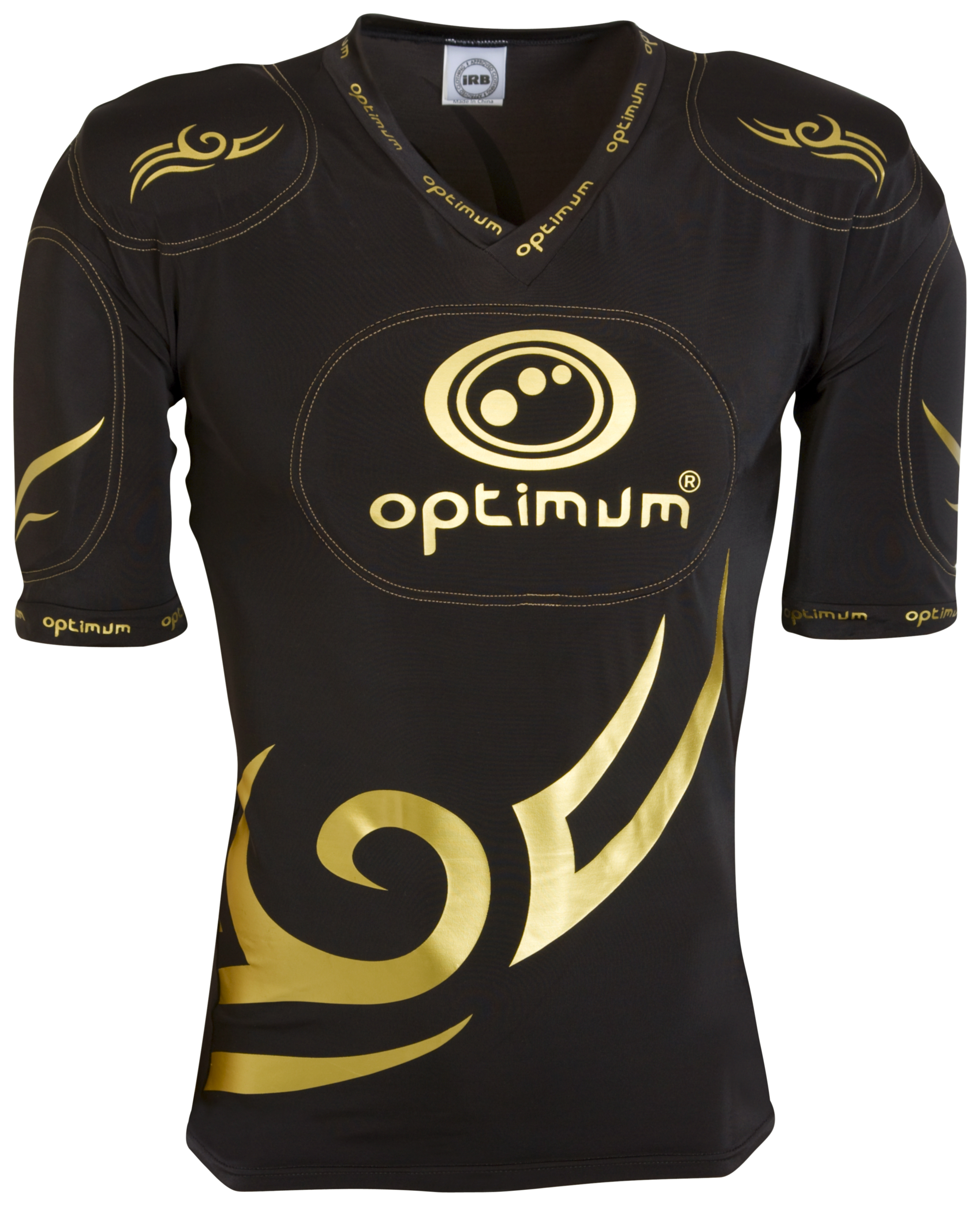 Optimum Five Pad Tribal Protection Top - Black/Gold