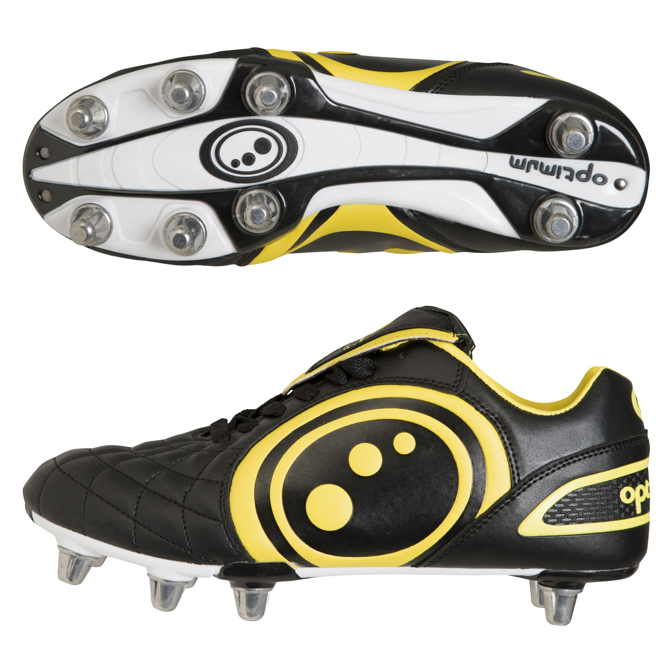 Optimum Eclipse Rugby Boot - Black/Yellow