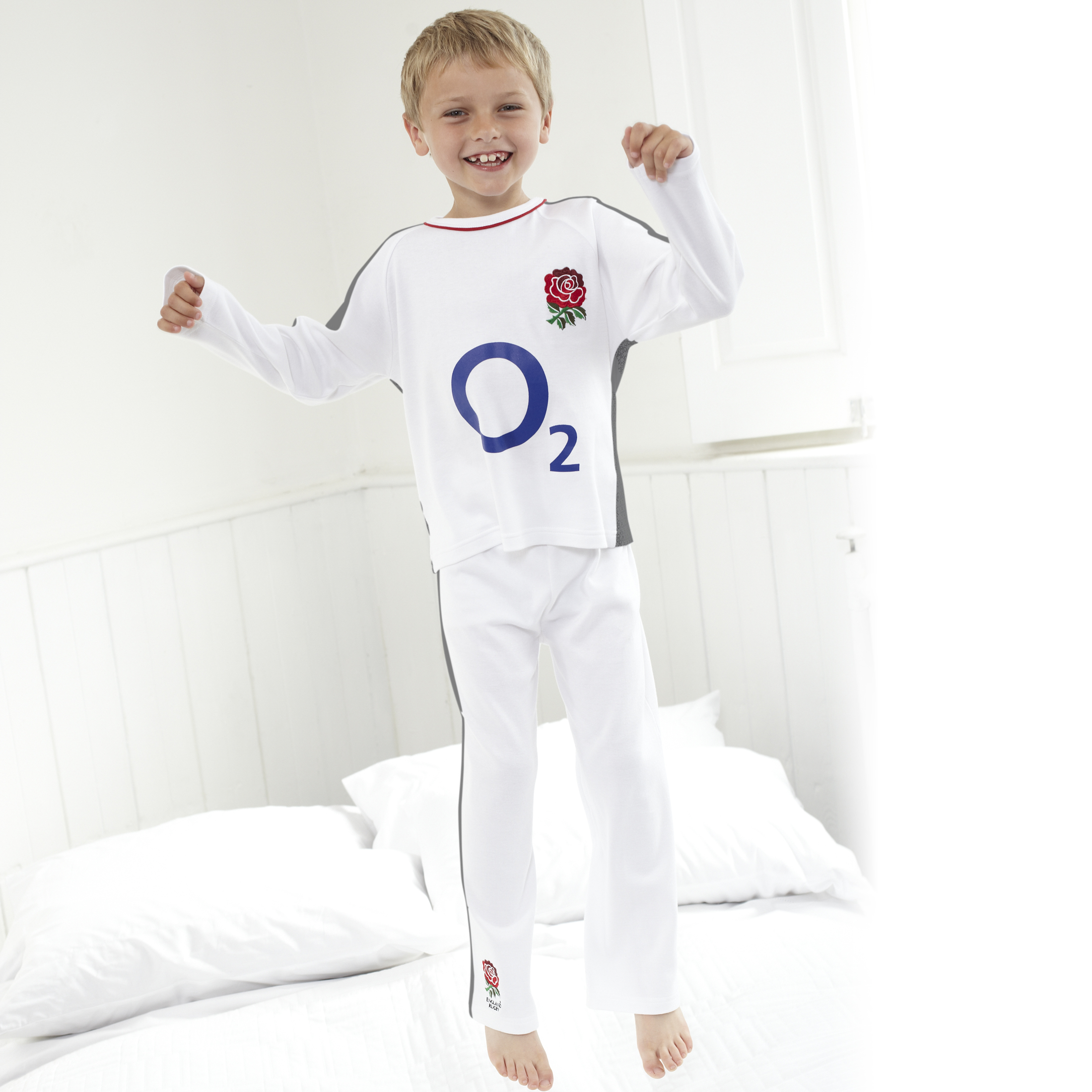 England Rugby Kit Pyjamas White Infant Boys.
