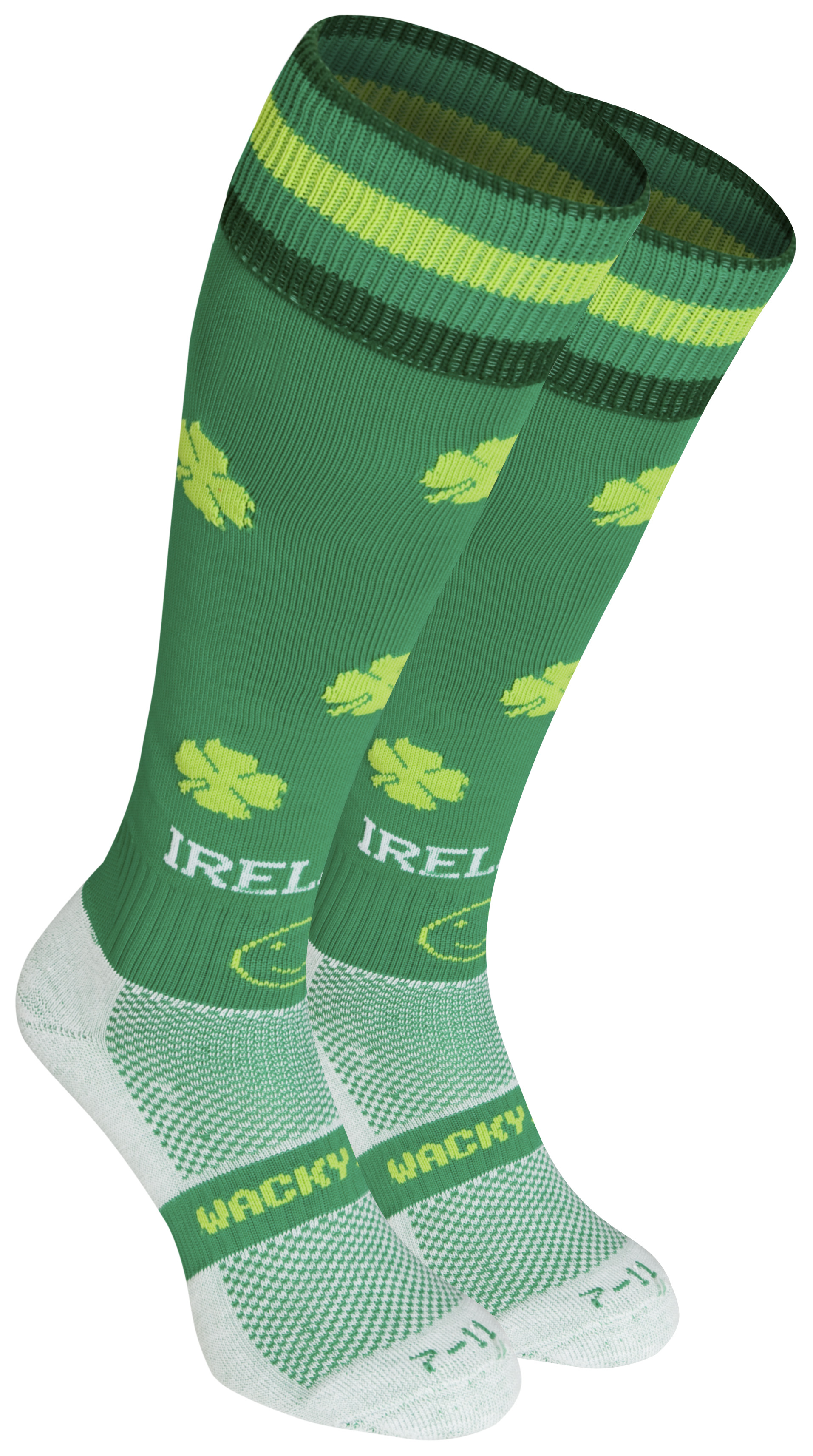 WackySox Ireland Socks - Green - Size 12-14