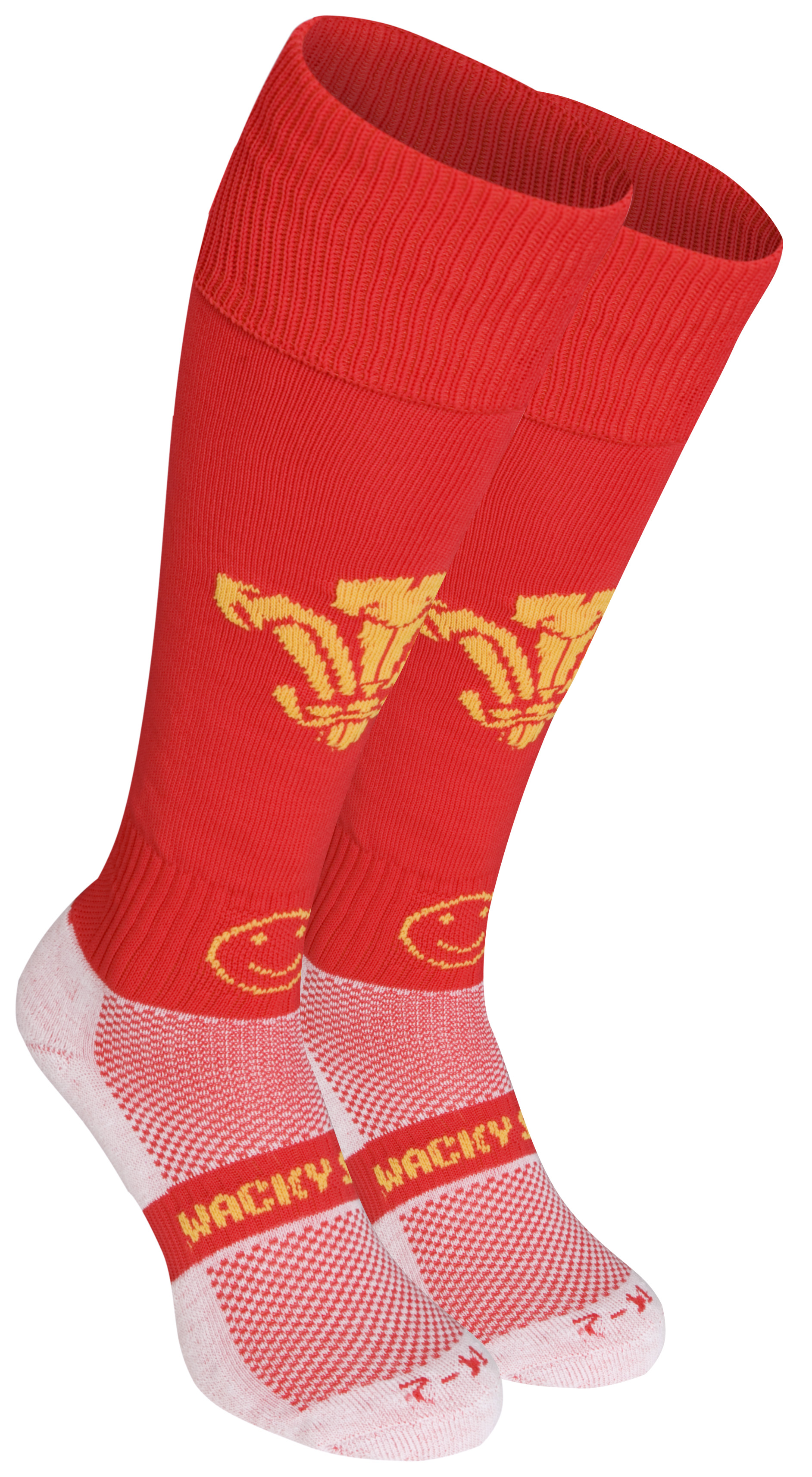 WackySox Wales Socks - Red - Size 12-14