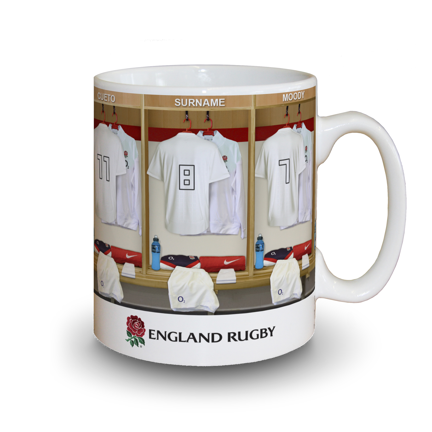 England Rugby Personalised Dressing Room Mug