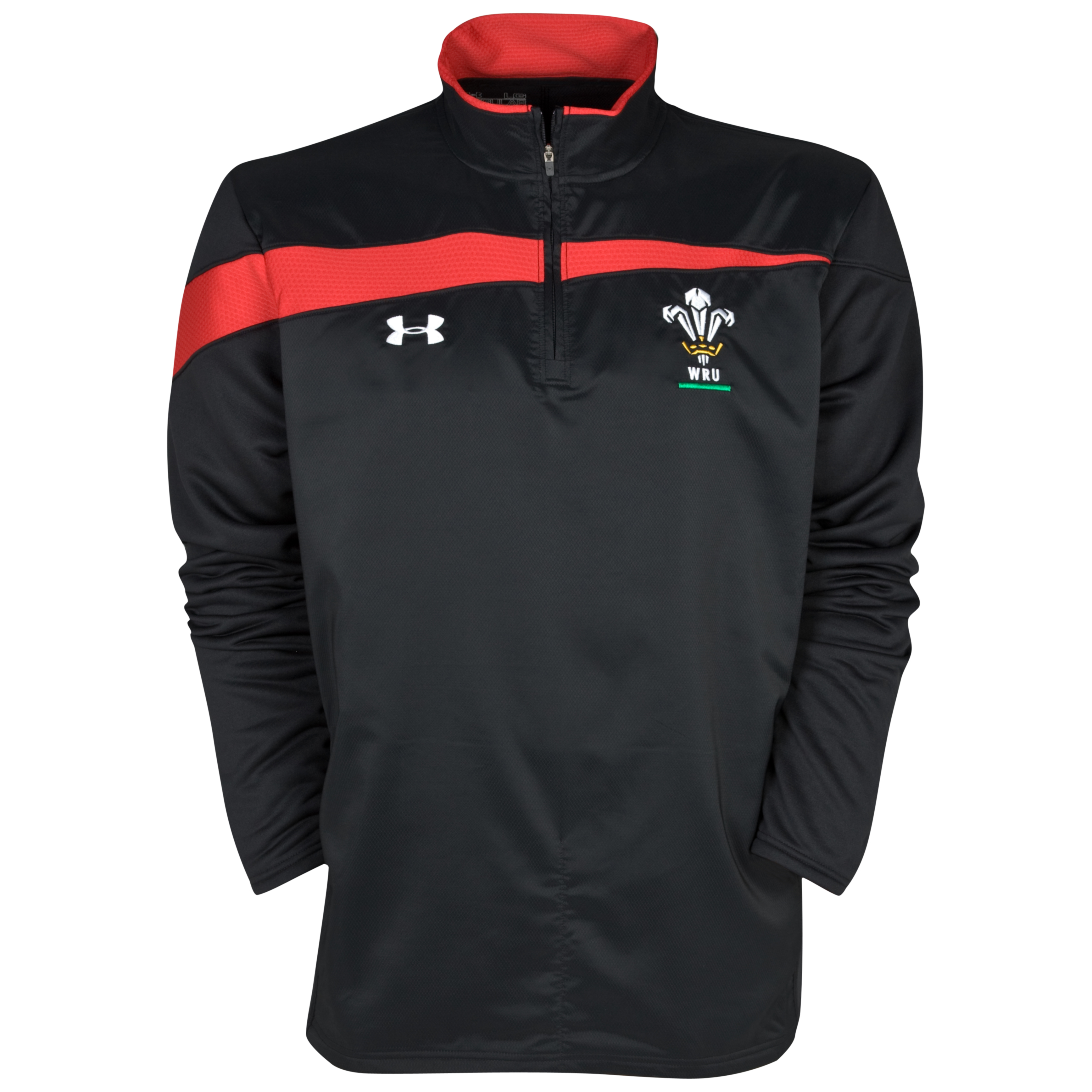 Wales Rugby Union 10k Force 1/4 Zip Top - Black/Red