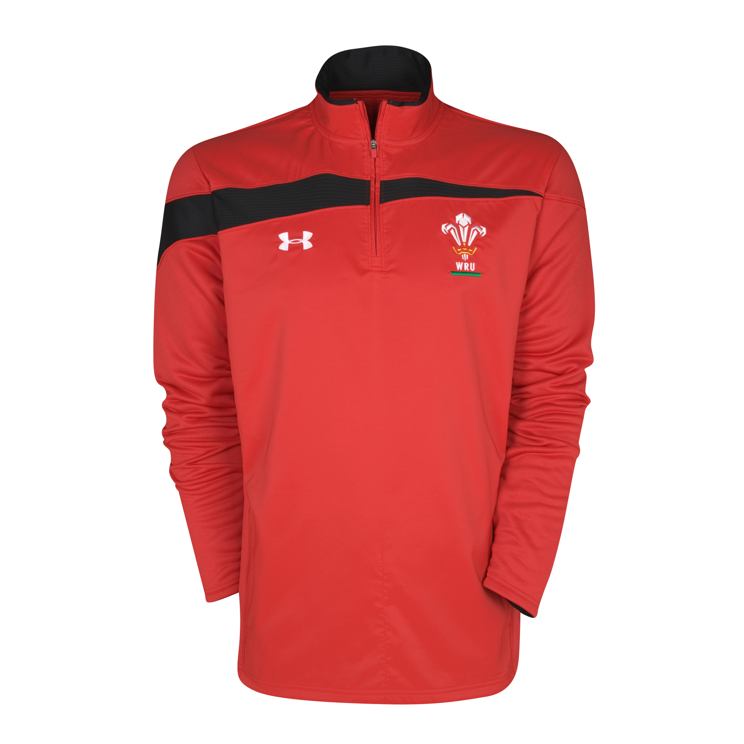 Wales Rugby Union 10k Force 1/4 Zip Top - Red/Black