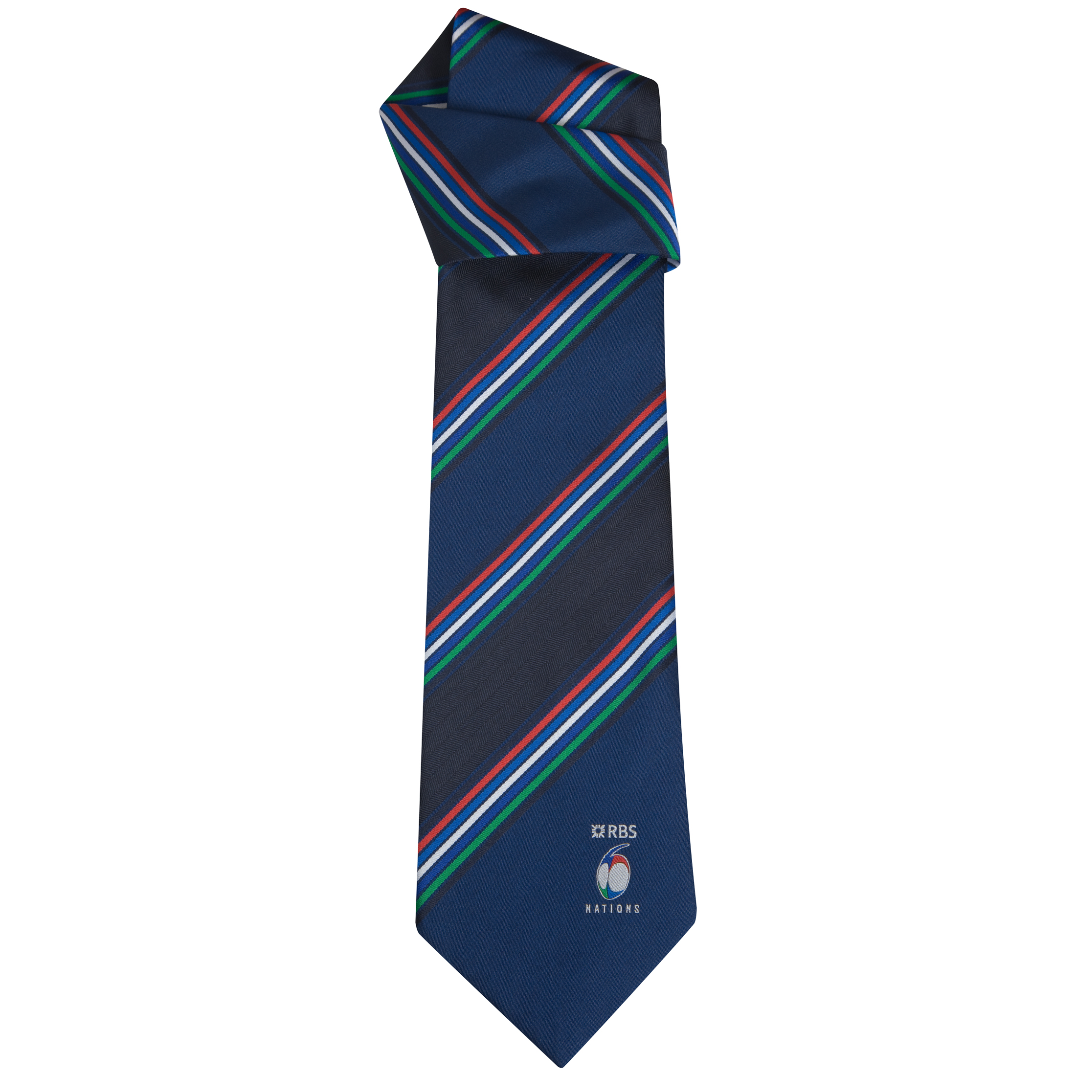 RBS 6 Nations Jacquard Woven Polyester Striped Tie. for 5€