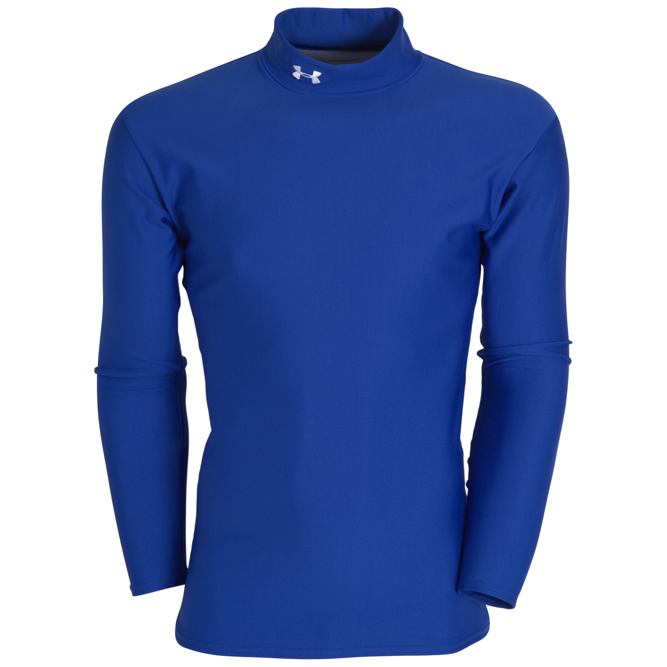 Under Armour Coldgear Longsleeve Mock - Royal/White