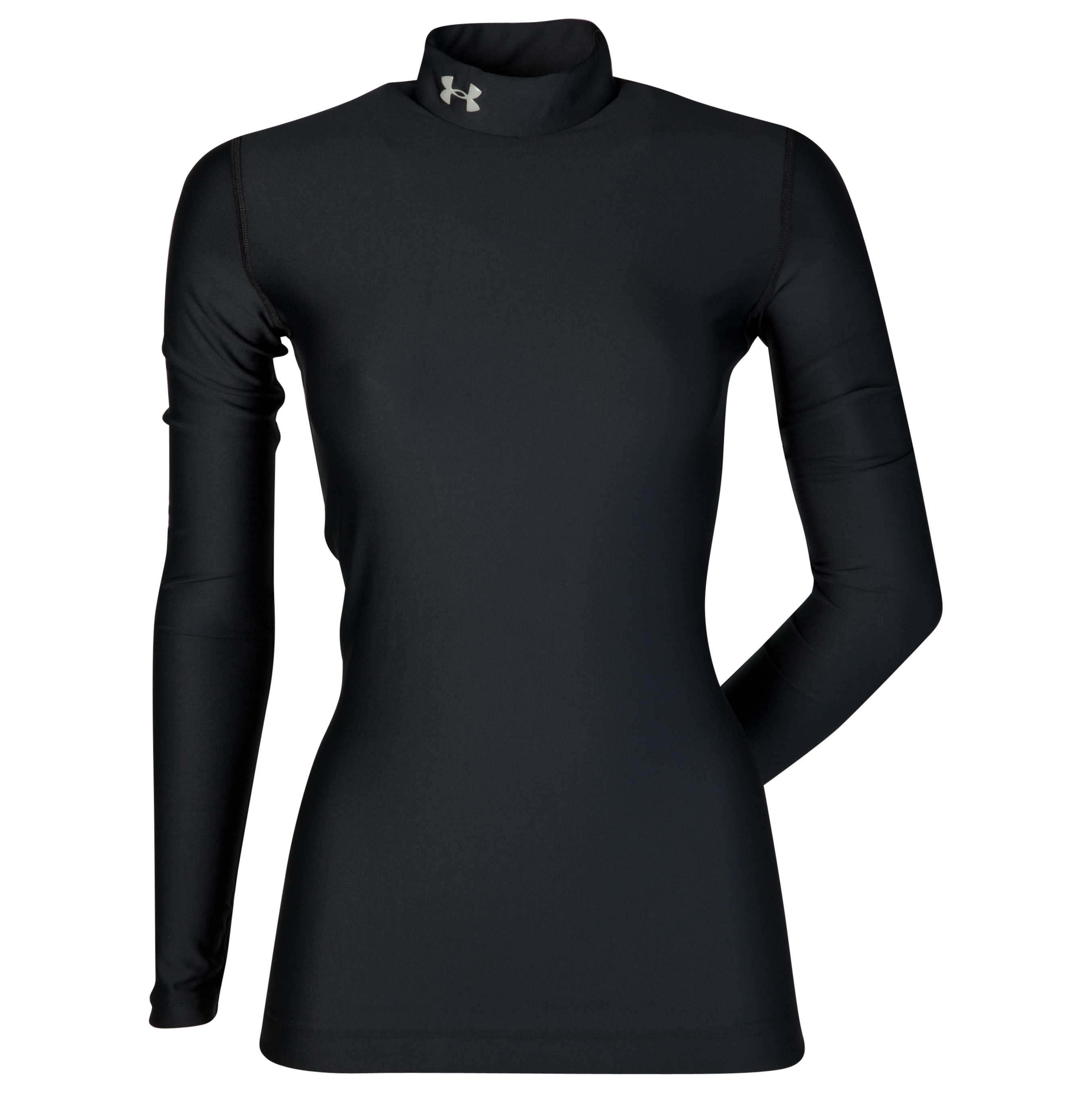 Under Armour Coldgear Compression Mock - Black/Aluminium - Womens
