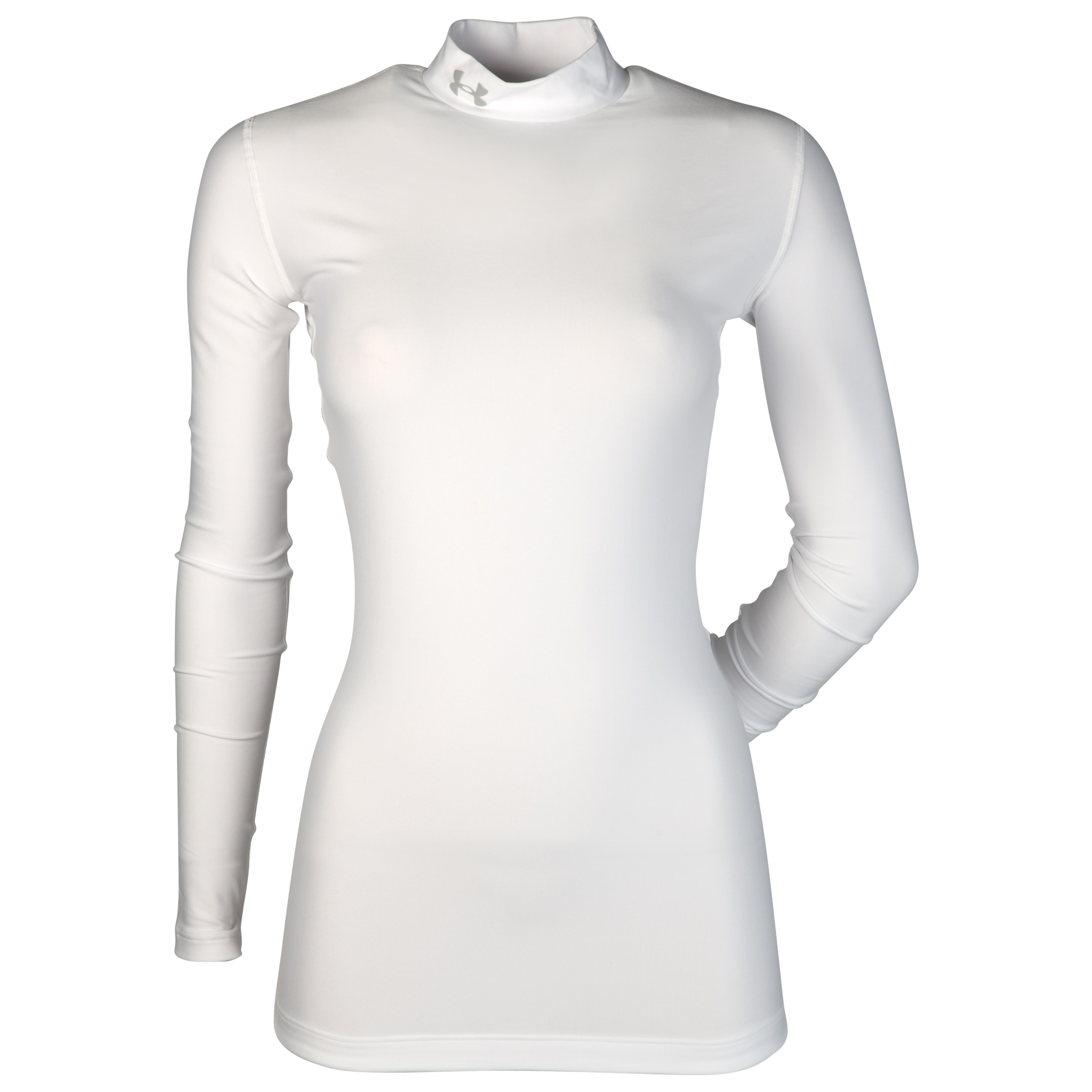 Under Armour Coldgear Compression Mock - White/Aluminium - Womens