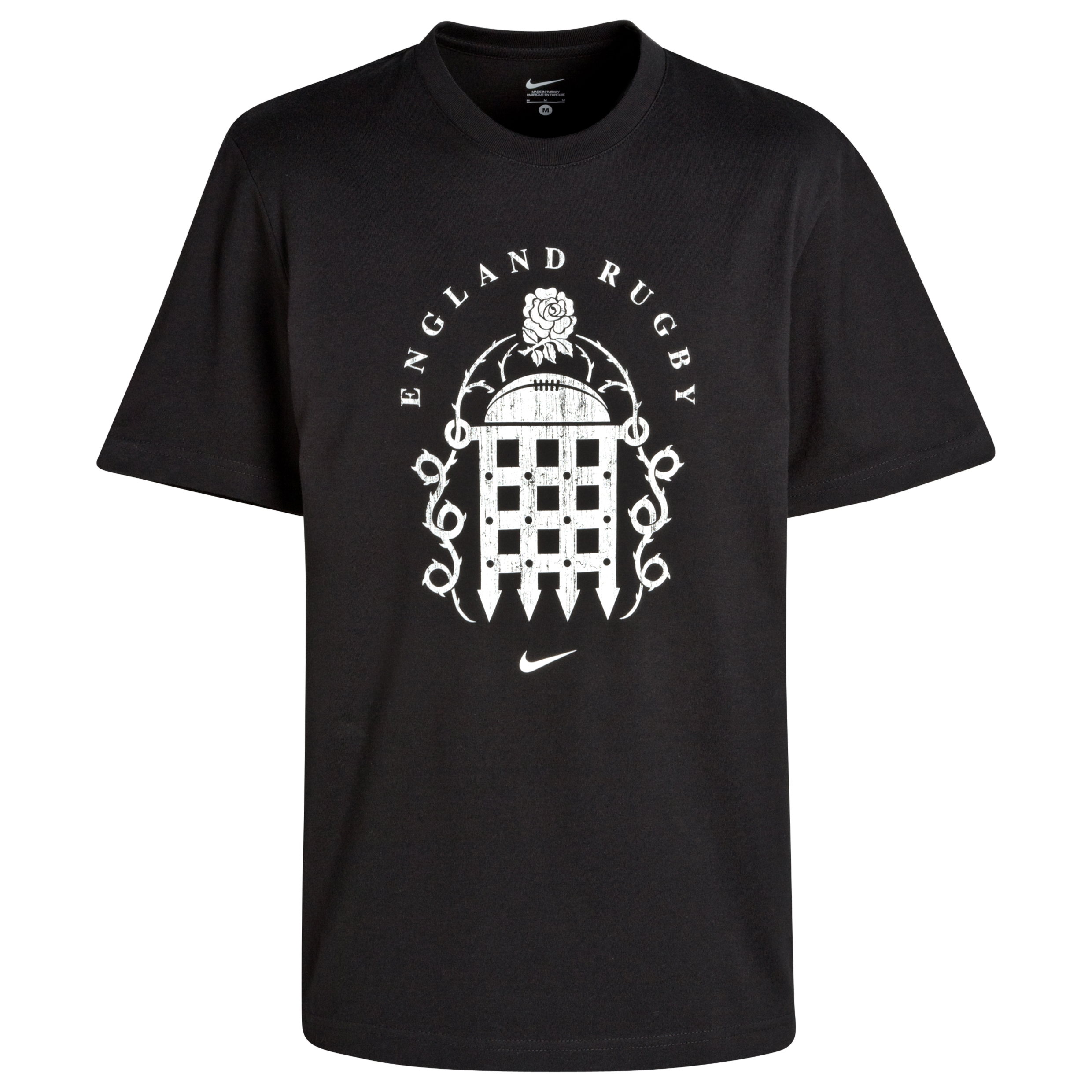 England Rugby Team T-Shirt - Black/White. for 15€