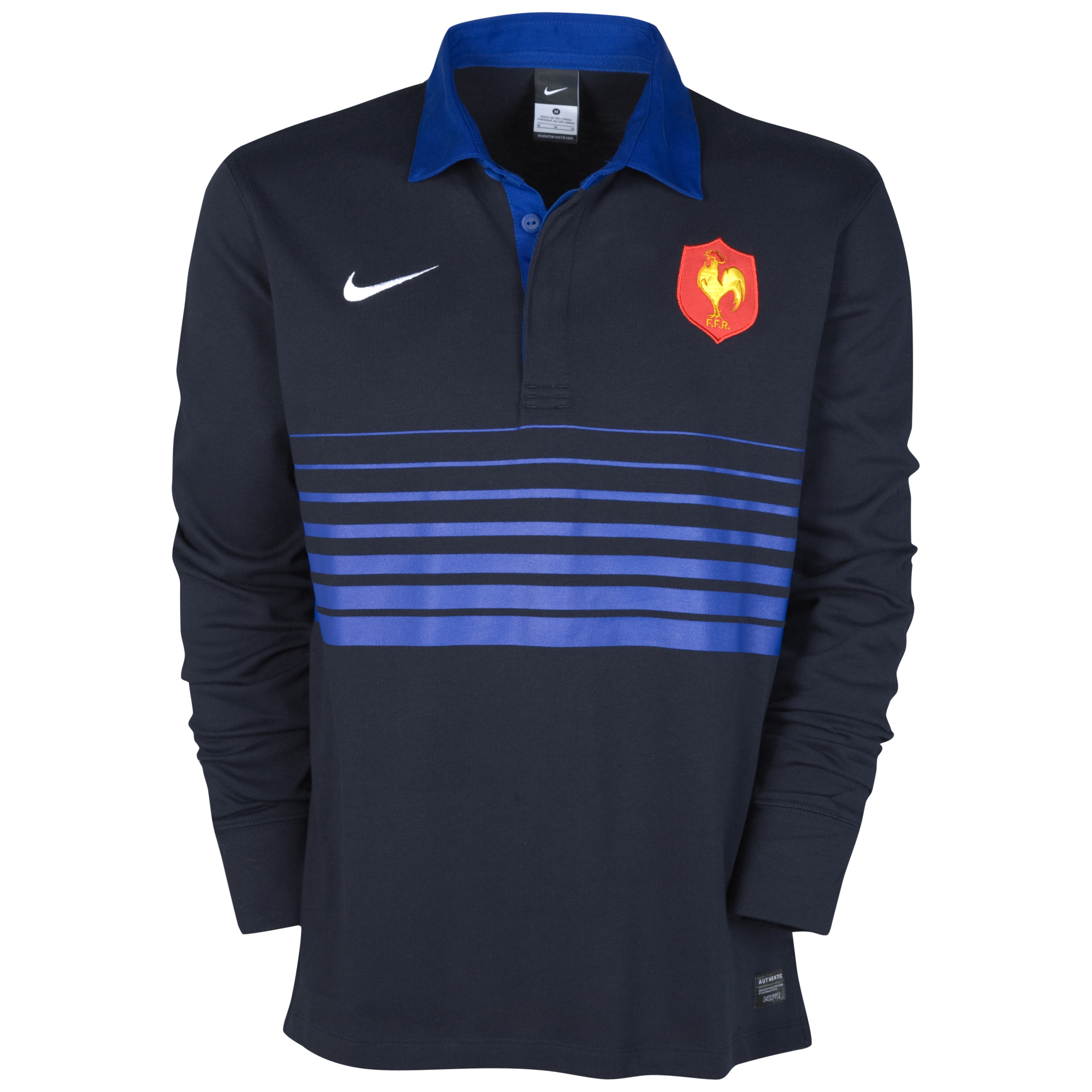 France Rugby Home Supporters Jersey 2011/12 - Long Sleeved. for 50€