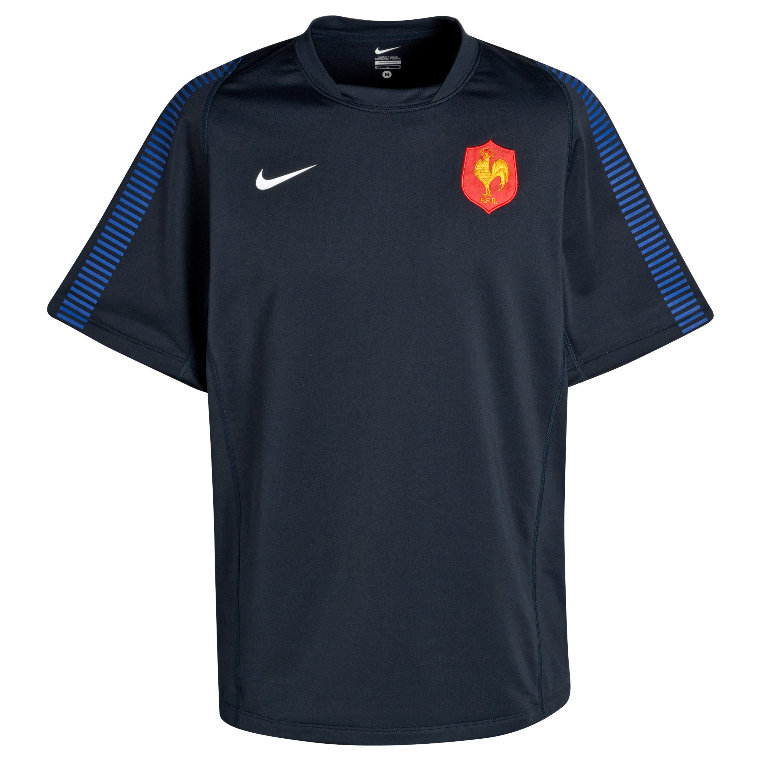 France Rugby Training Jersey - Old Royal/Dark Obsidian