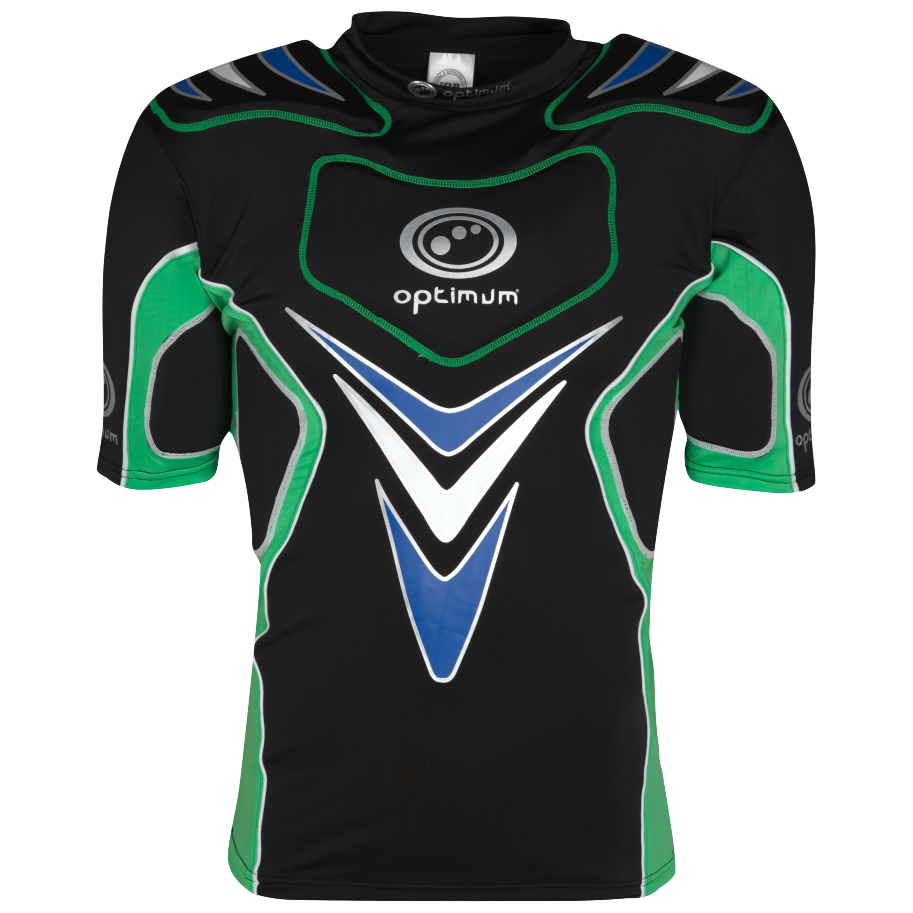 Optimum Blitz Rift Protective Top - Green/Blue