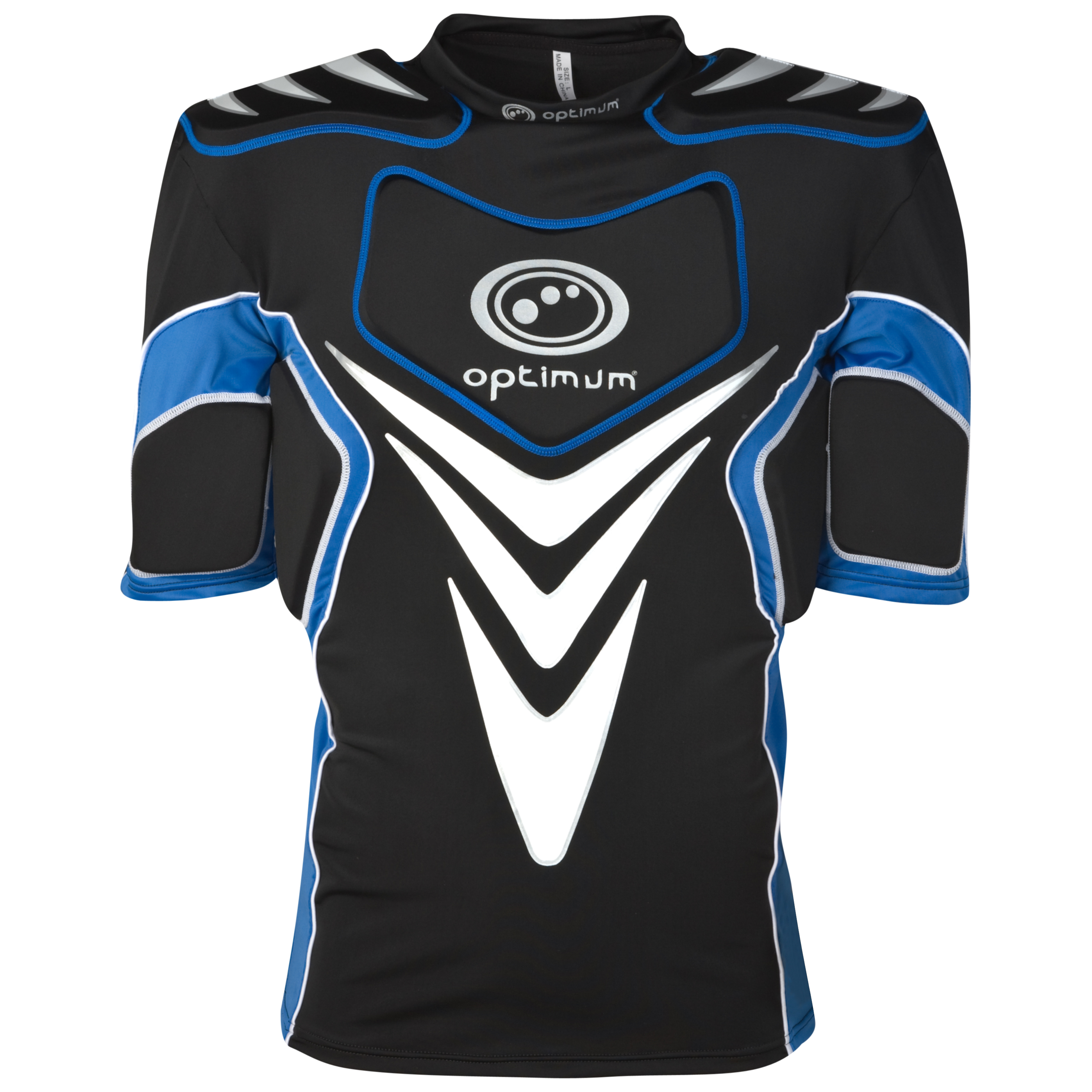 Optimum Blitz Protective Top - Black/Blue