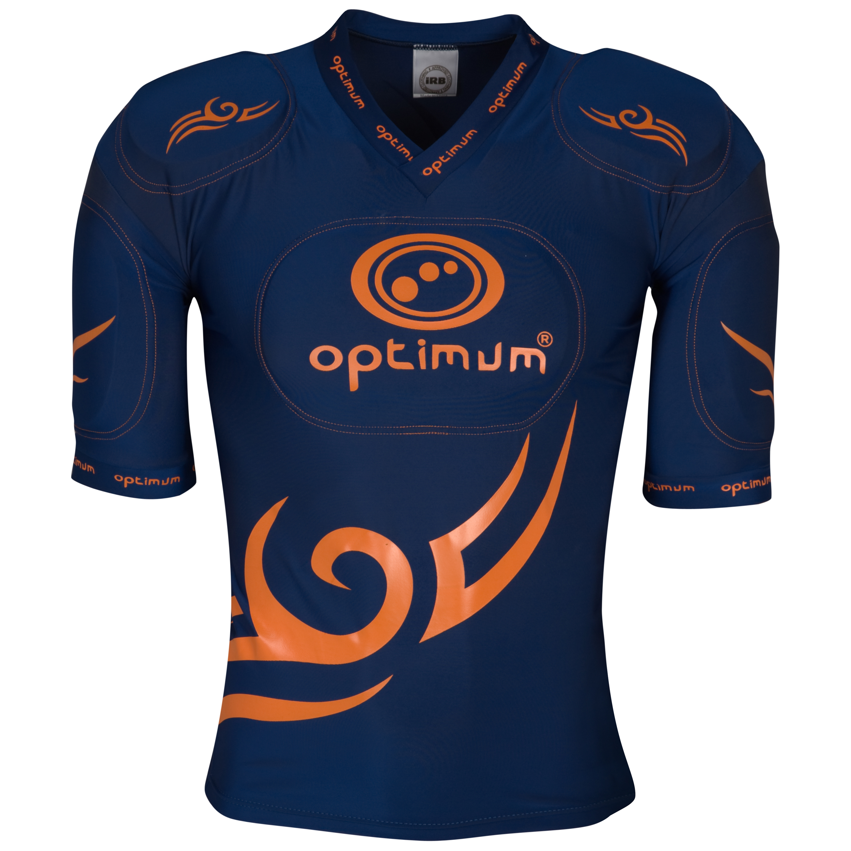 Optimum Five Pad Tribal Protective Top - Navy/Orange