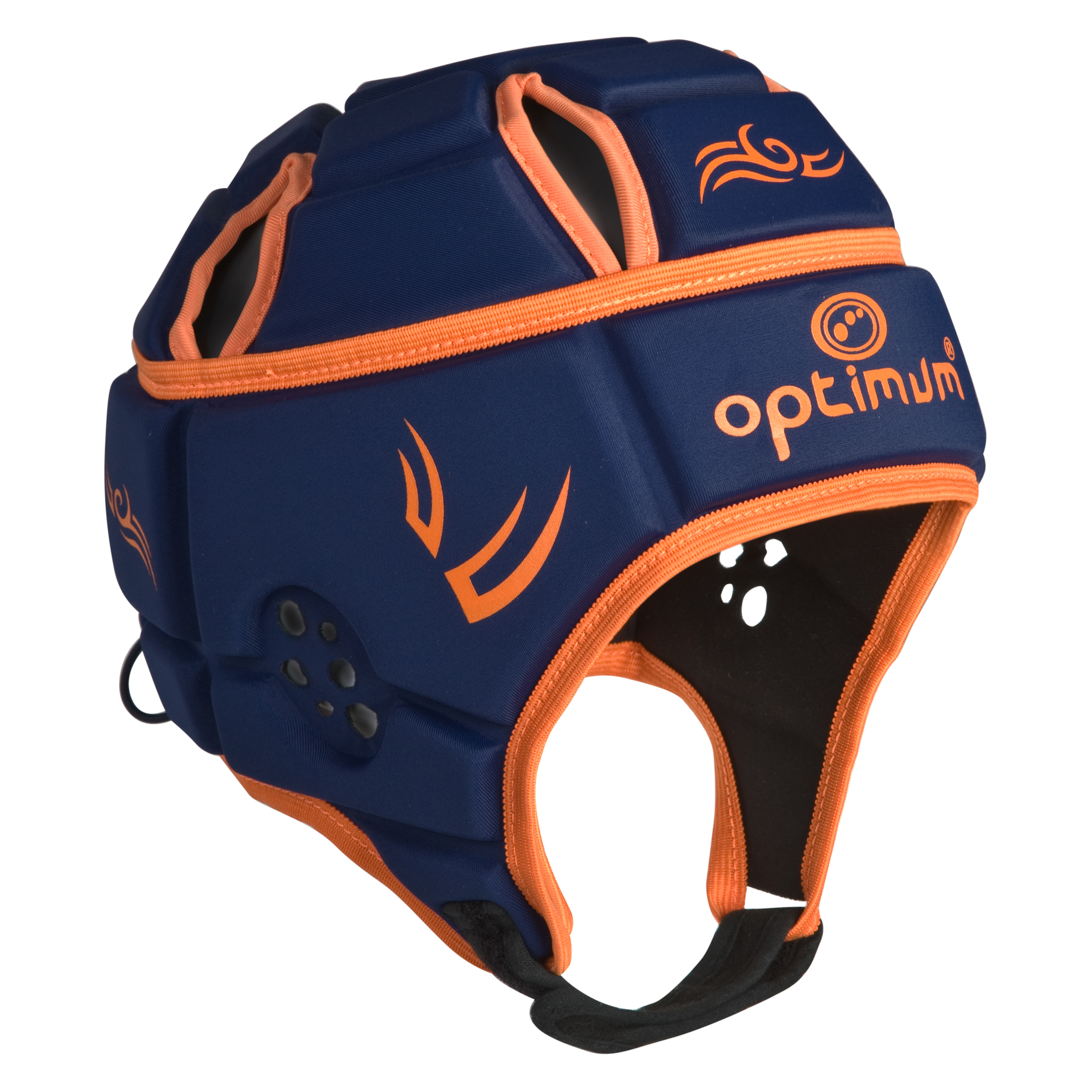 Optimum Hedweb Classic Tribal Headguard - Navy/Orange
