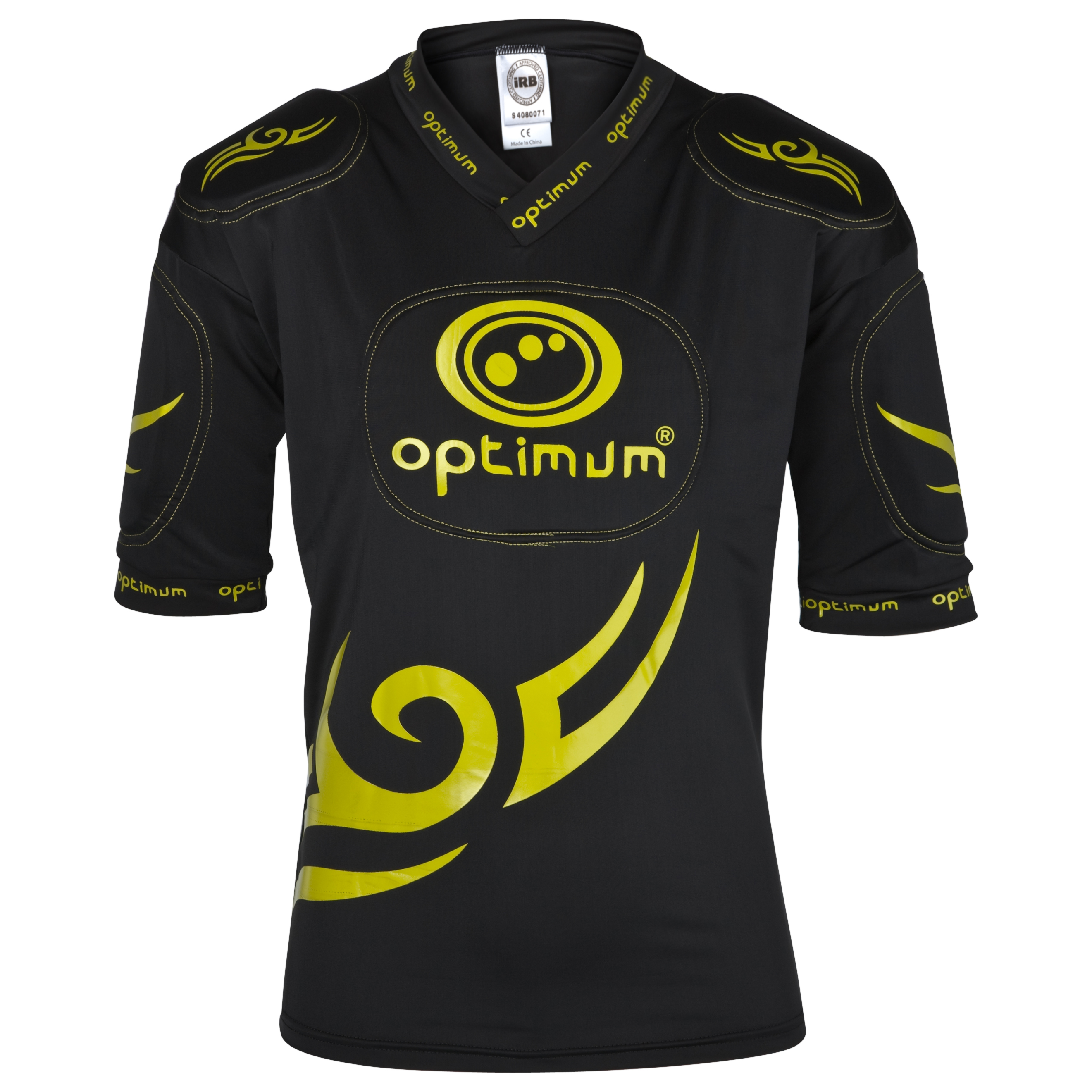 Optimum Five Pad Tribal Protection Top - Black/Yellow - Kids