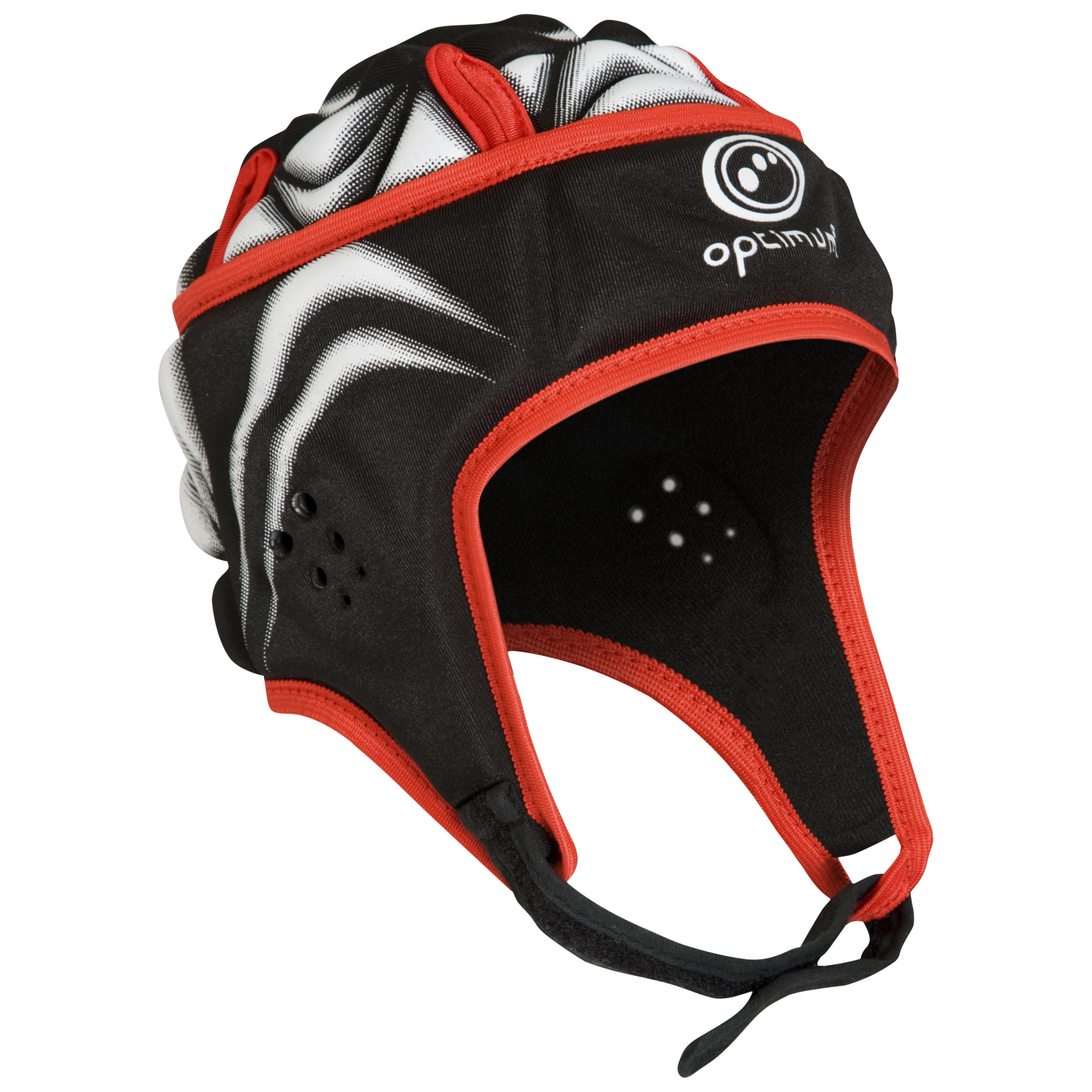 Optimum Blitz Extreme Headguard - Black/Red/White - Boys