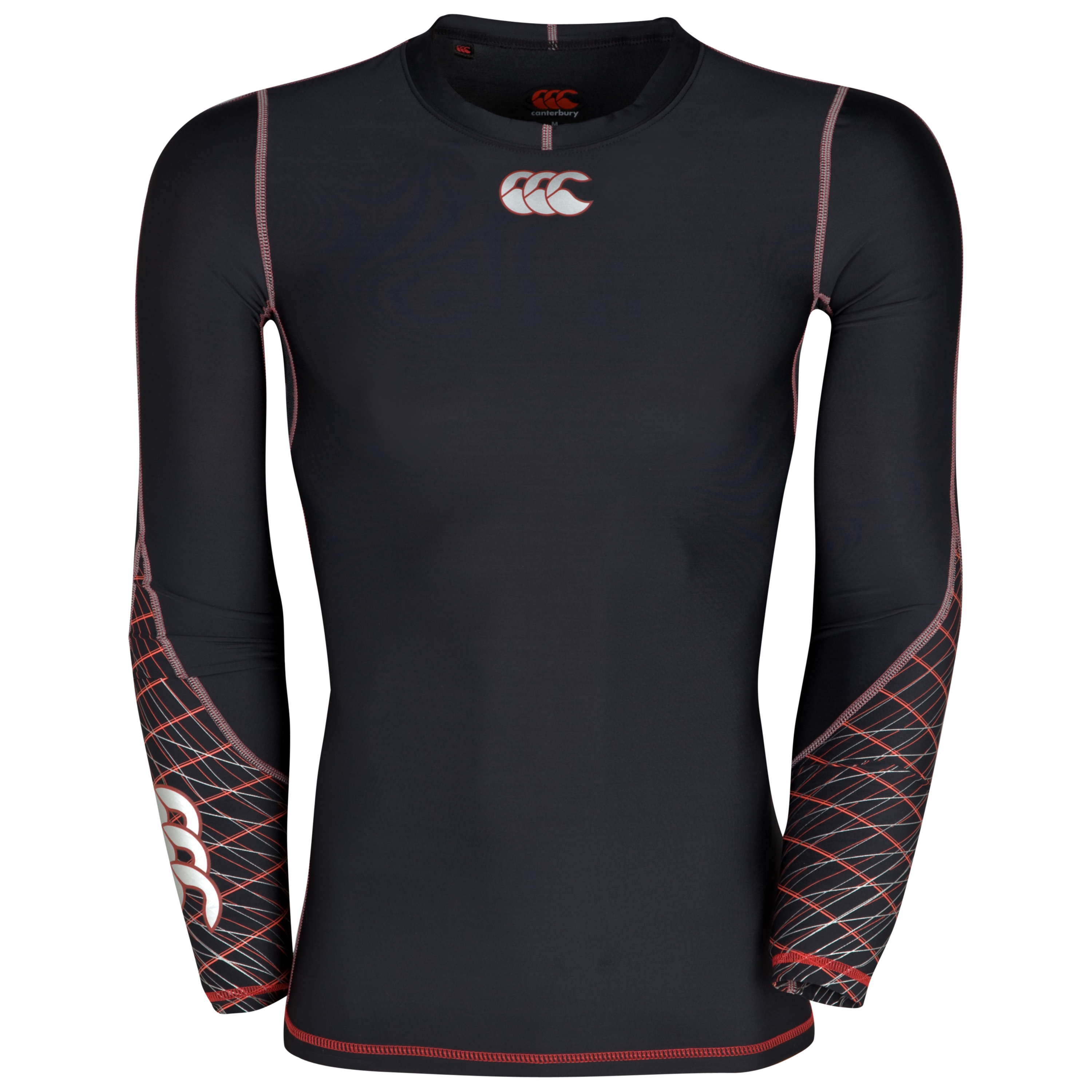 Canterbury Mercury Hybrid Compression Top - Black