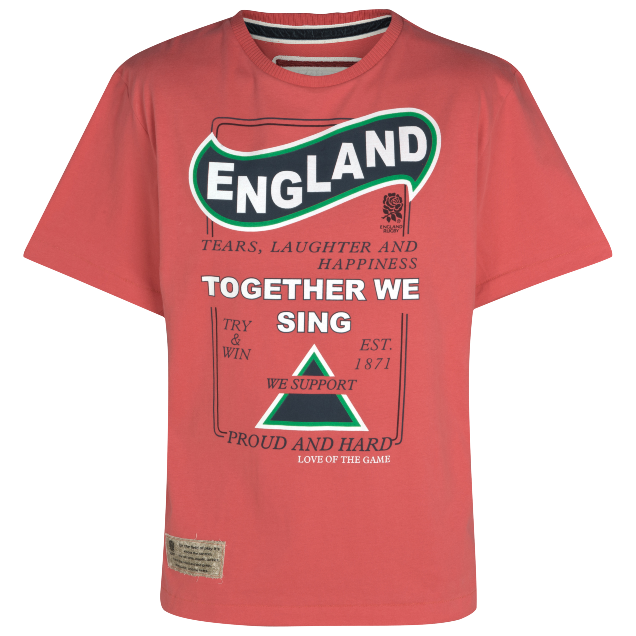 England Rugby Cotton T-Shirt - Red