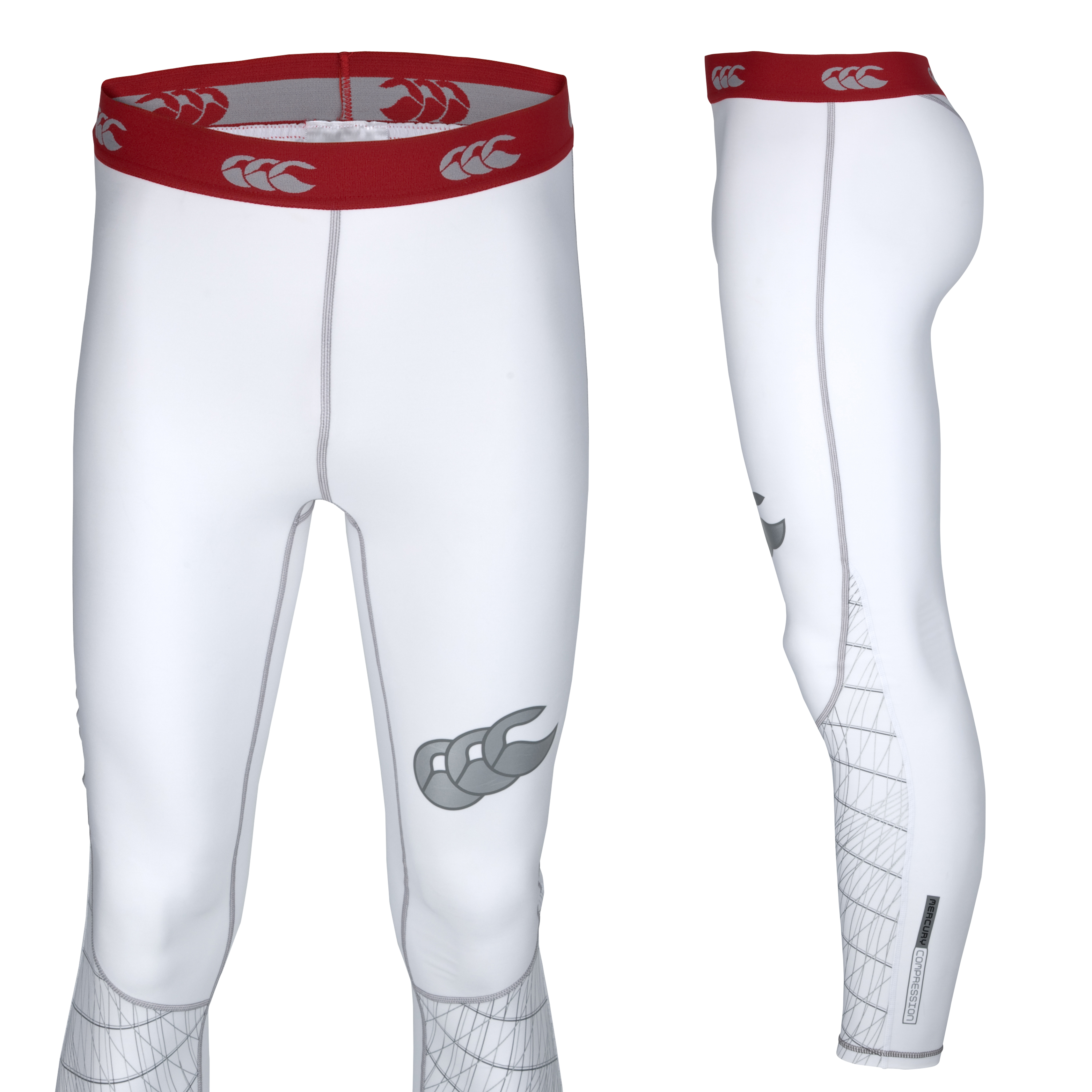 Canterbury Mercury Hybrid Compression Legging - White