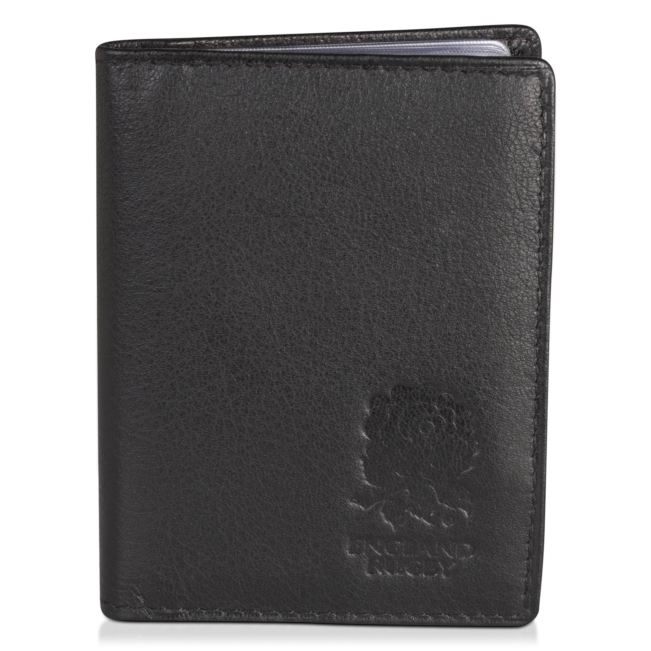 England Rugby Black Nappa Leather Travel Card Holder