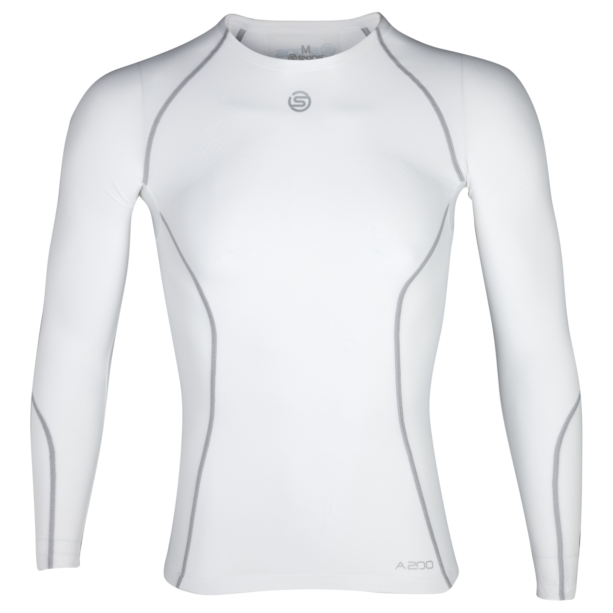 Skins A200 Long Sleeve Top - White