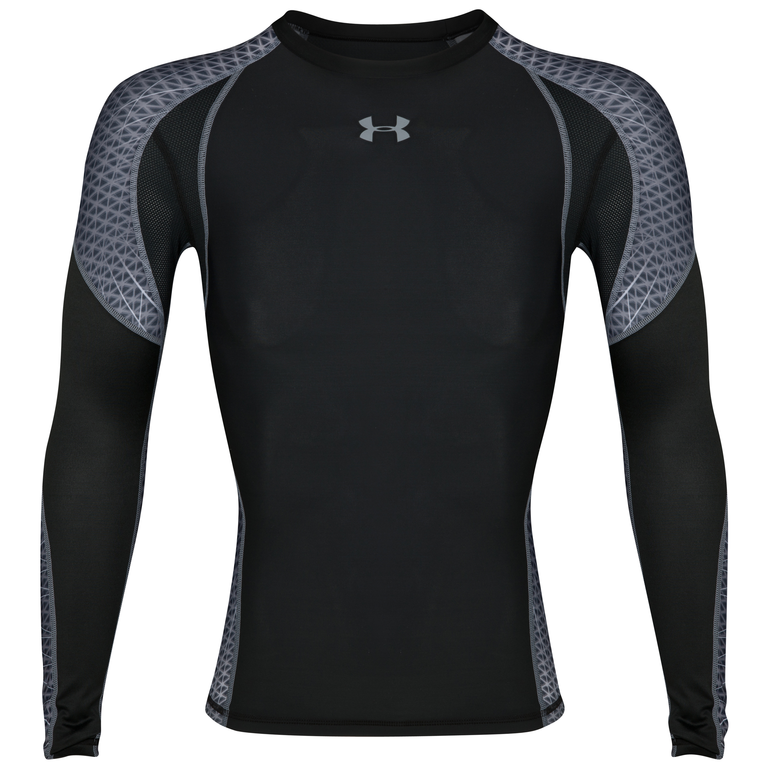 Under Armour Warp Speed Baselayer Top - Black/Steel - Long Sleeve