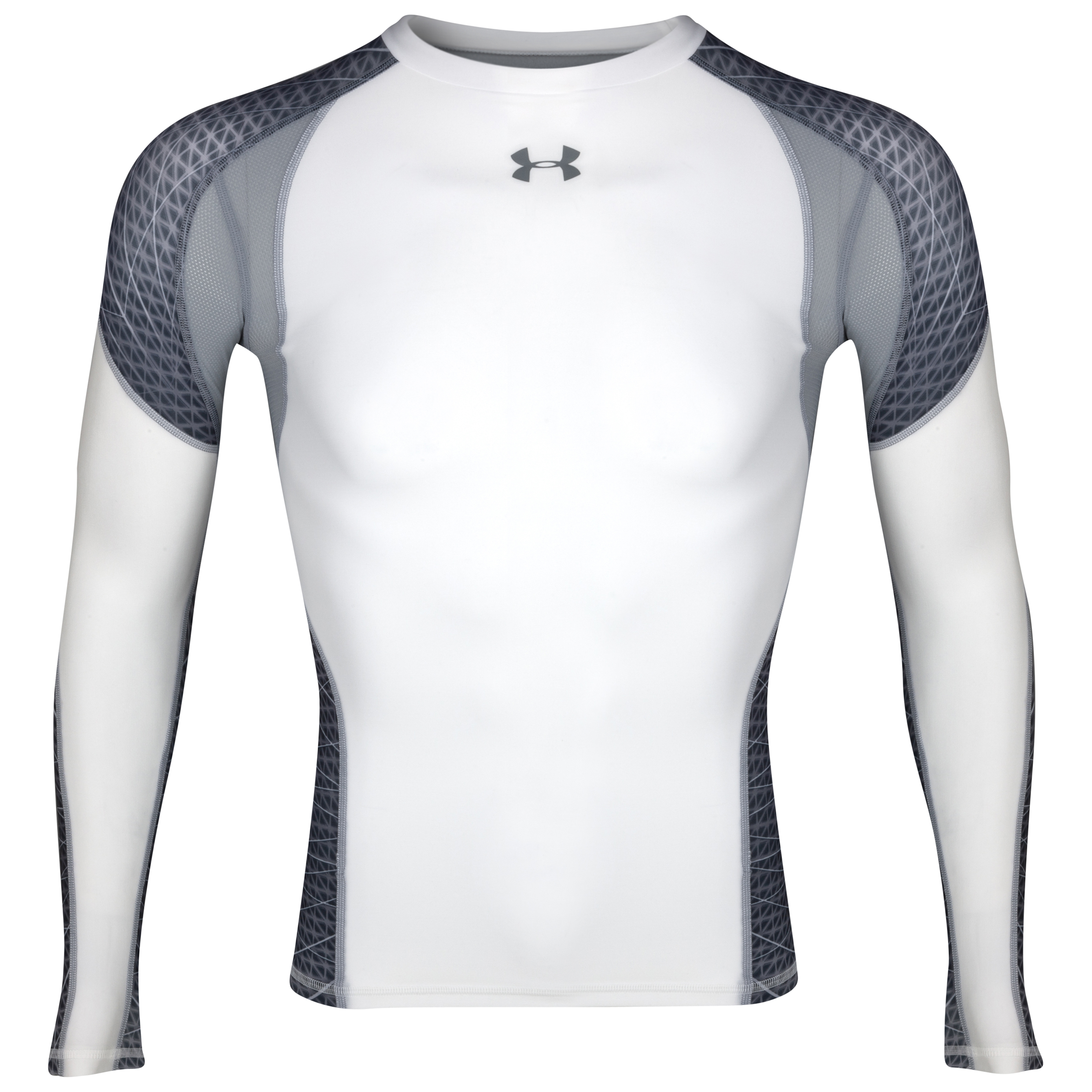 Under Armour Warp Speed Top - White/Steel - Long Sleeve