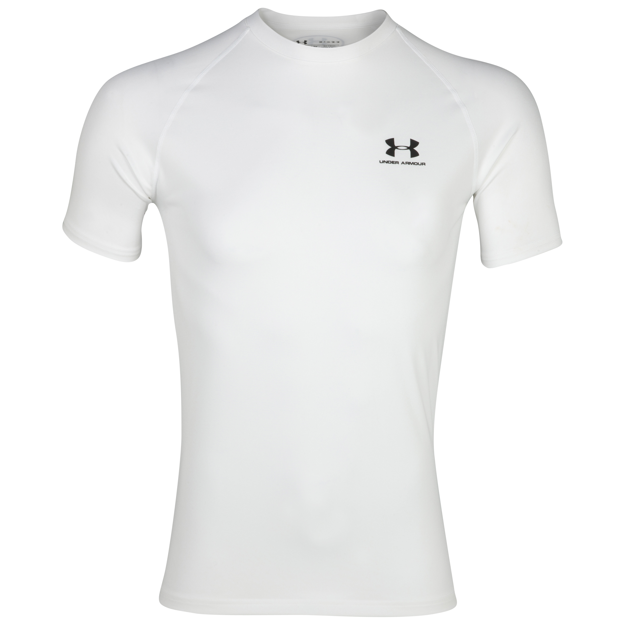 Under Armour Heatgear Vented Baselayer Top - White/Steel