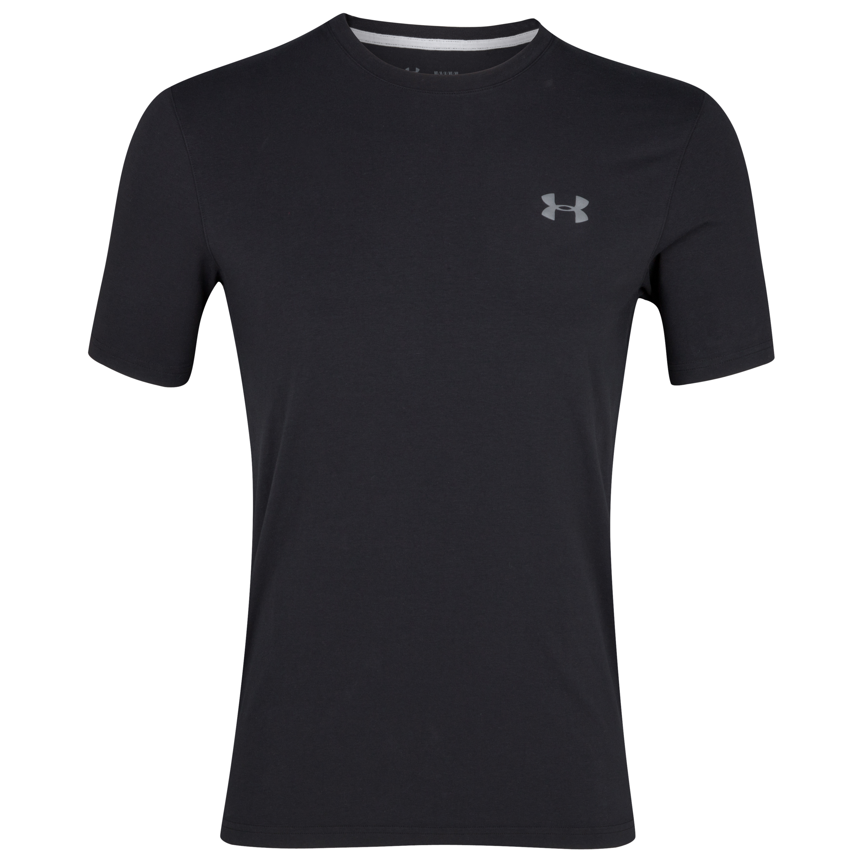 Under Armour Charged Cotton T-Shirt - Black/Graphite