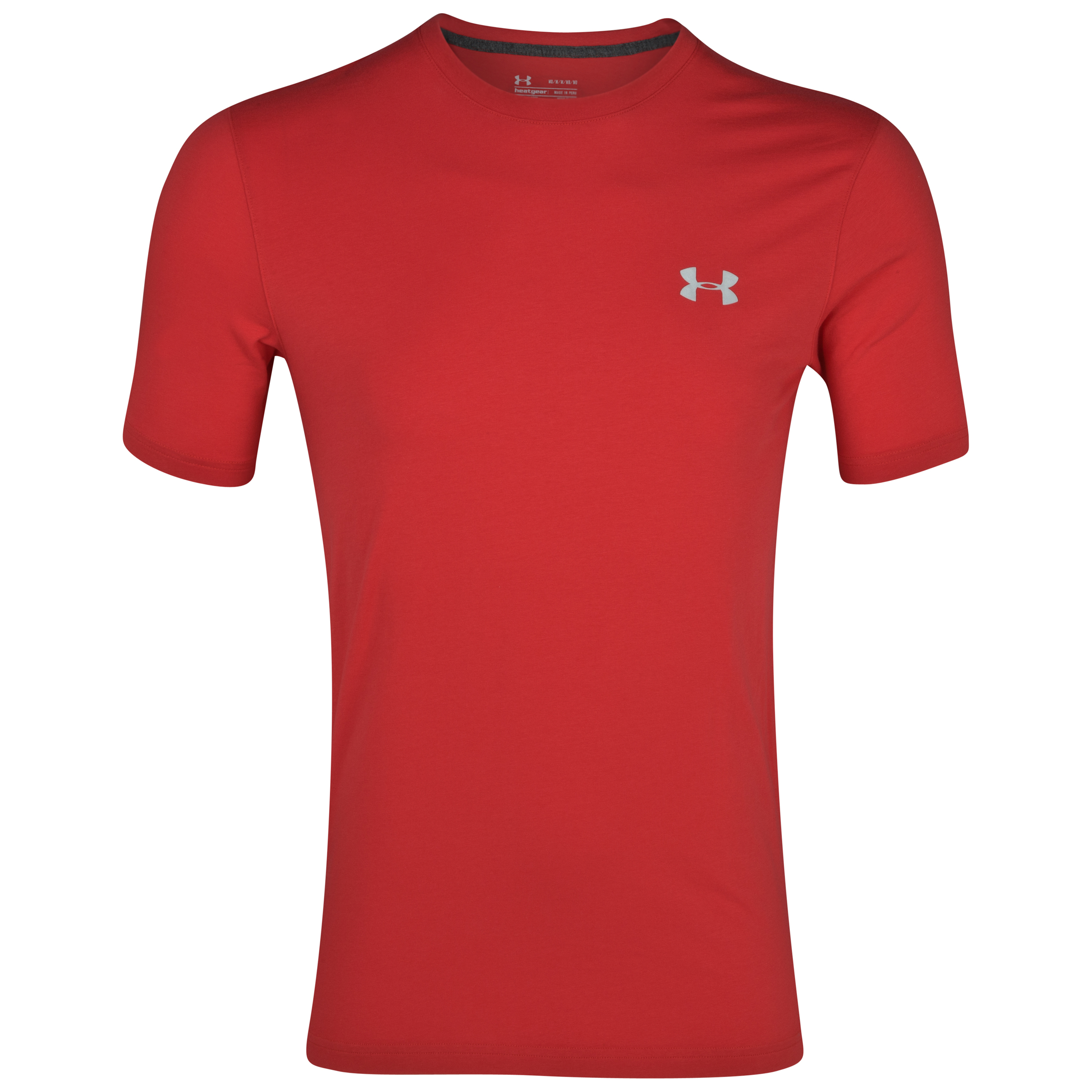 Under Armour Charged Cotton T-Shirt - Red/Aluminium