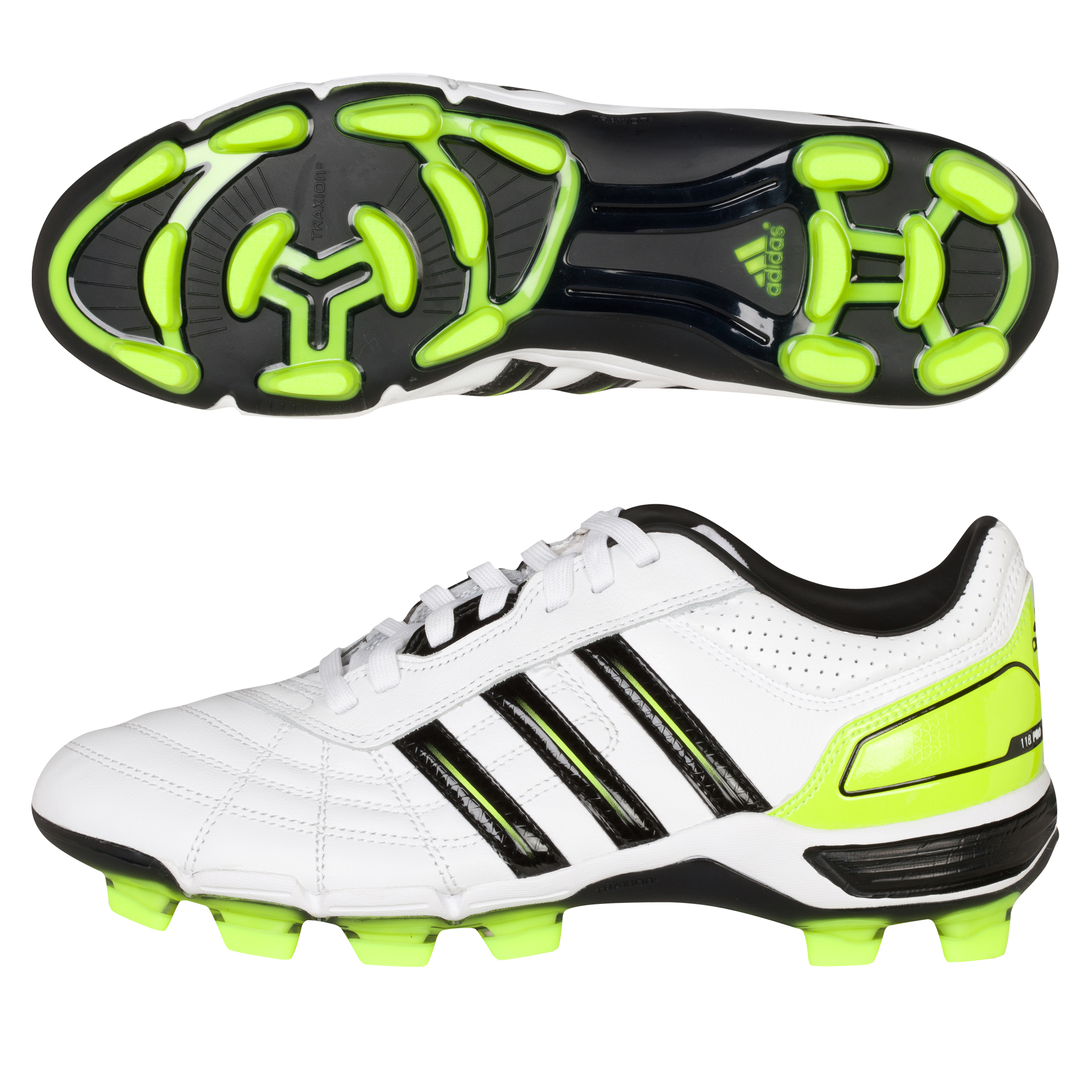 Adidas 118 Pro Rugby Boot - White / Black