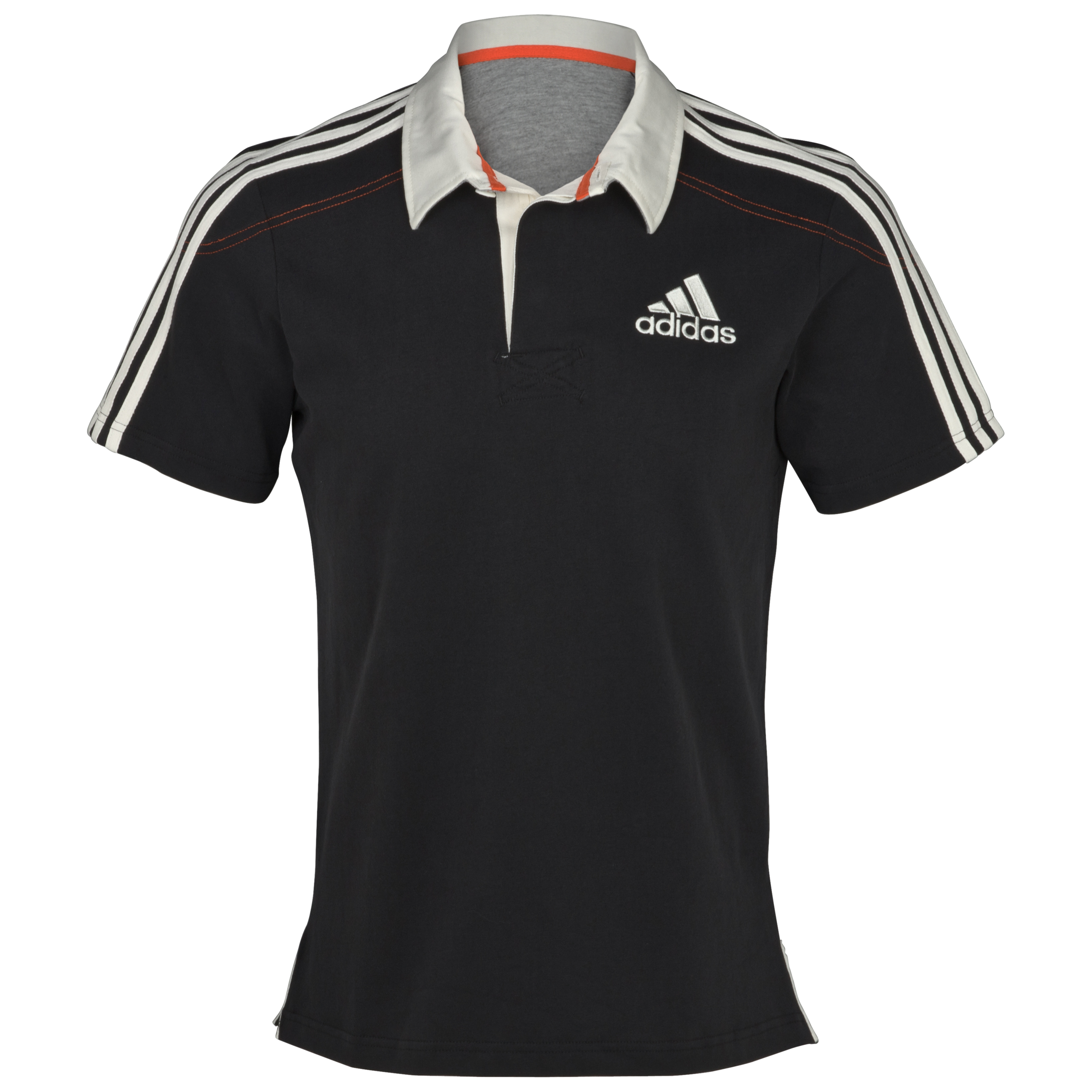 adidas Essentials  Short Sleeve Rugby Jersey - Black/Spray