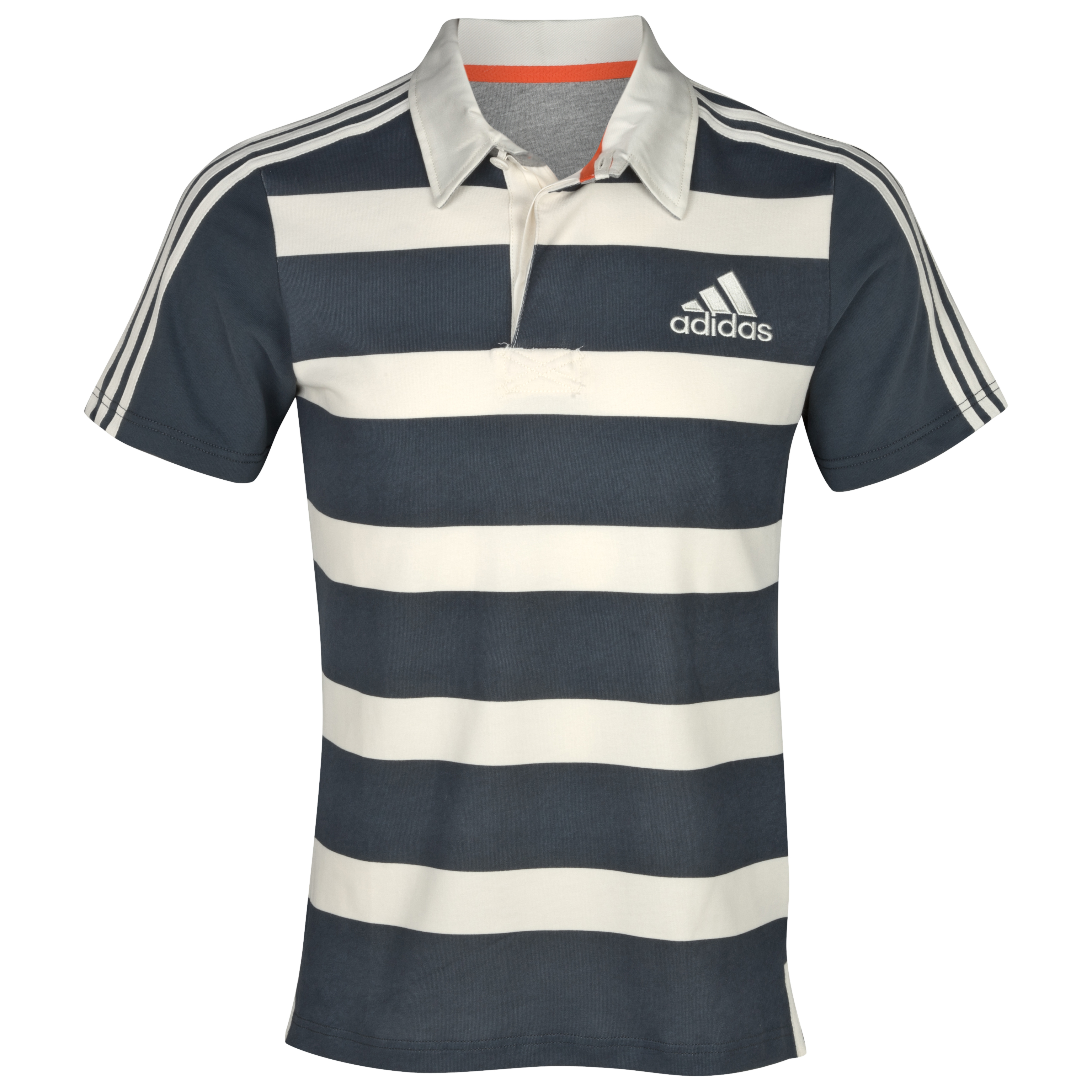 adidas Essentials  Short Sleeve Rugby Jersey - Dark Onix/Spray