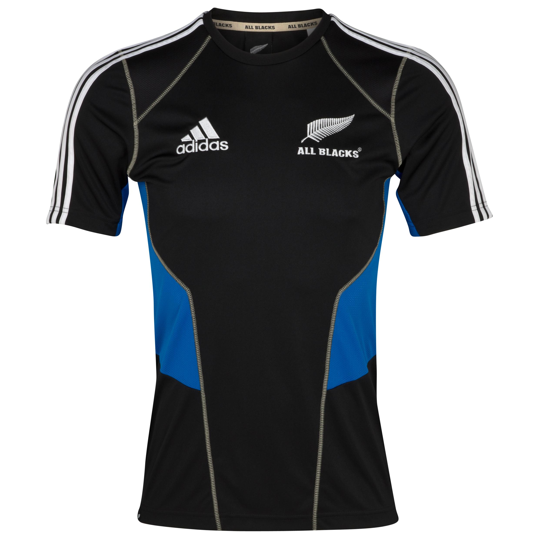All Blacks Performance T-Shirt - Black/Prime Blue S12/White. for 27€