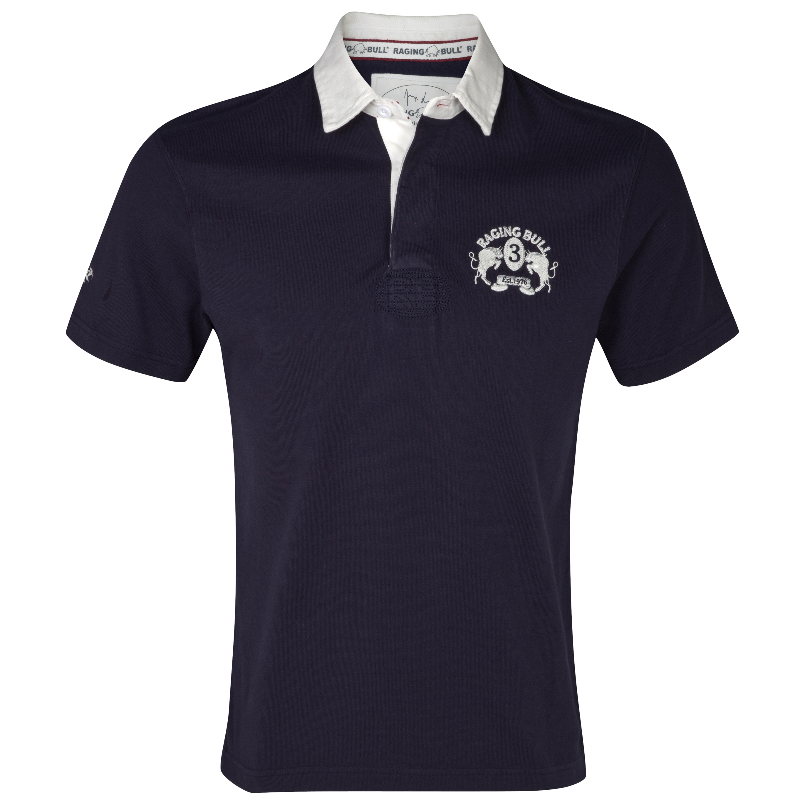 Raging Bull Signature Crest Rugby Shirt - Navy