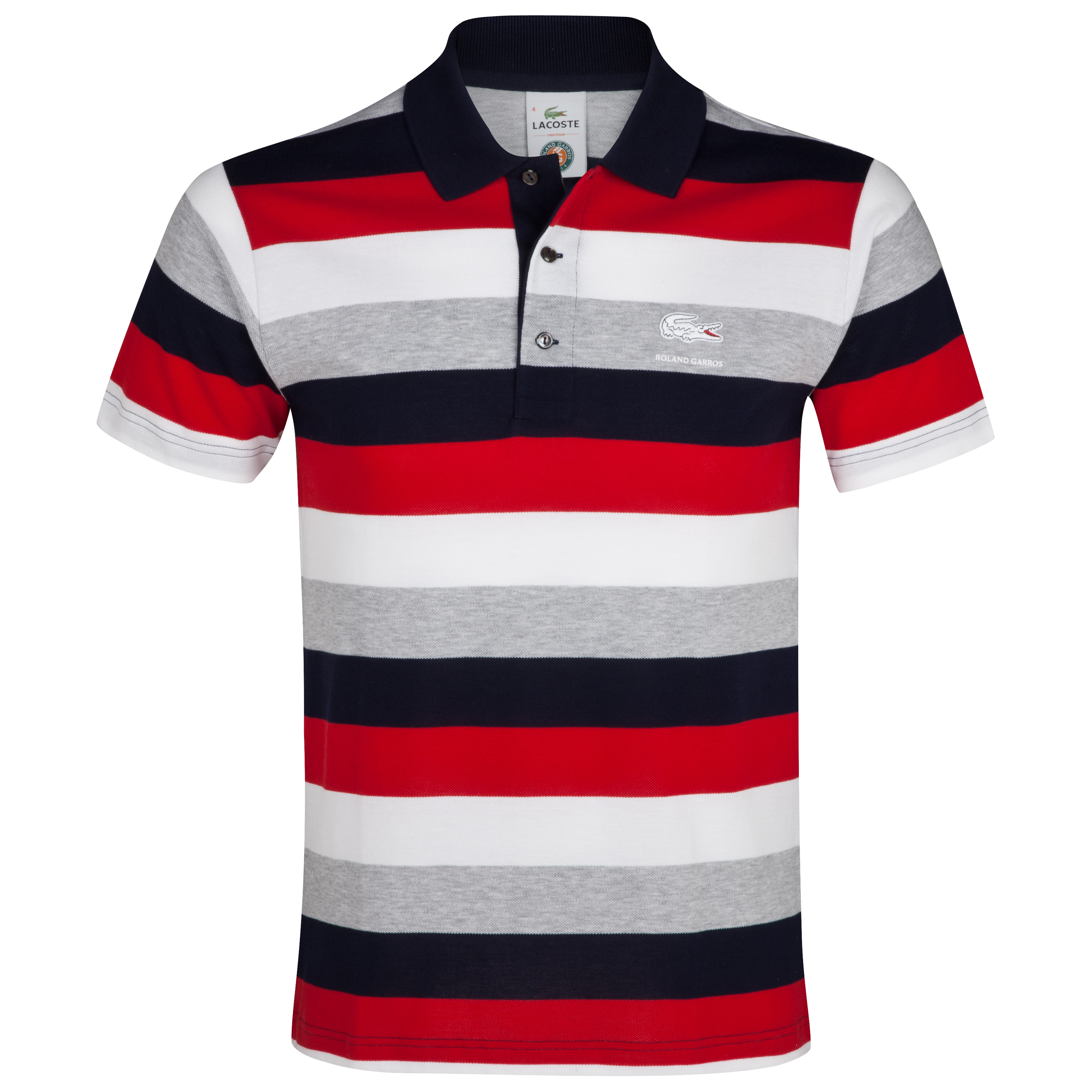 Roland-Garros Raye Polo - Mens Red