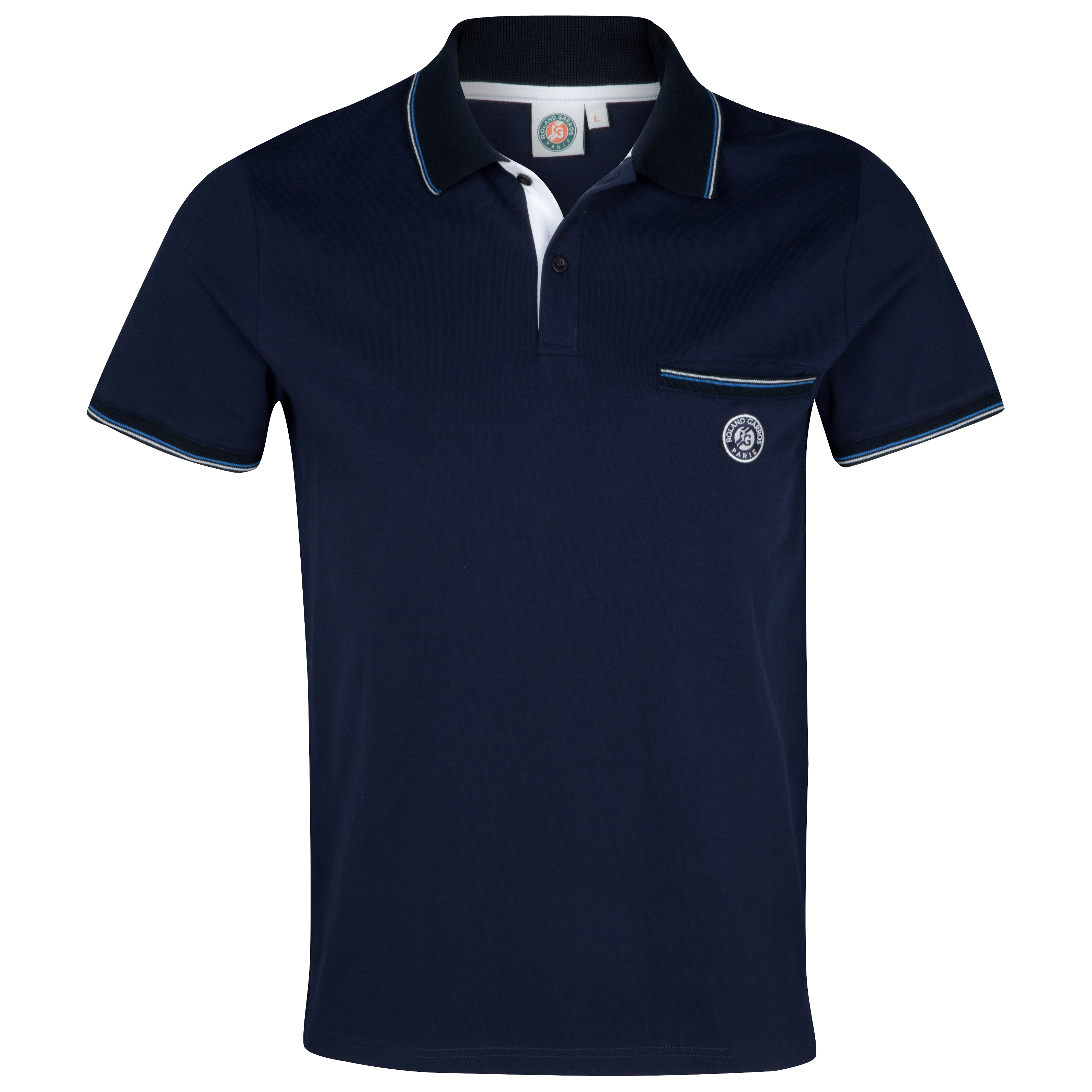 Roland-Garros Ayr Essential Polo - Mens Lt Blue