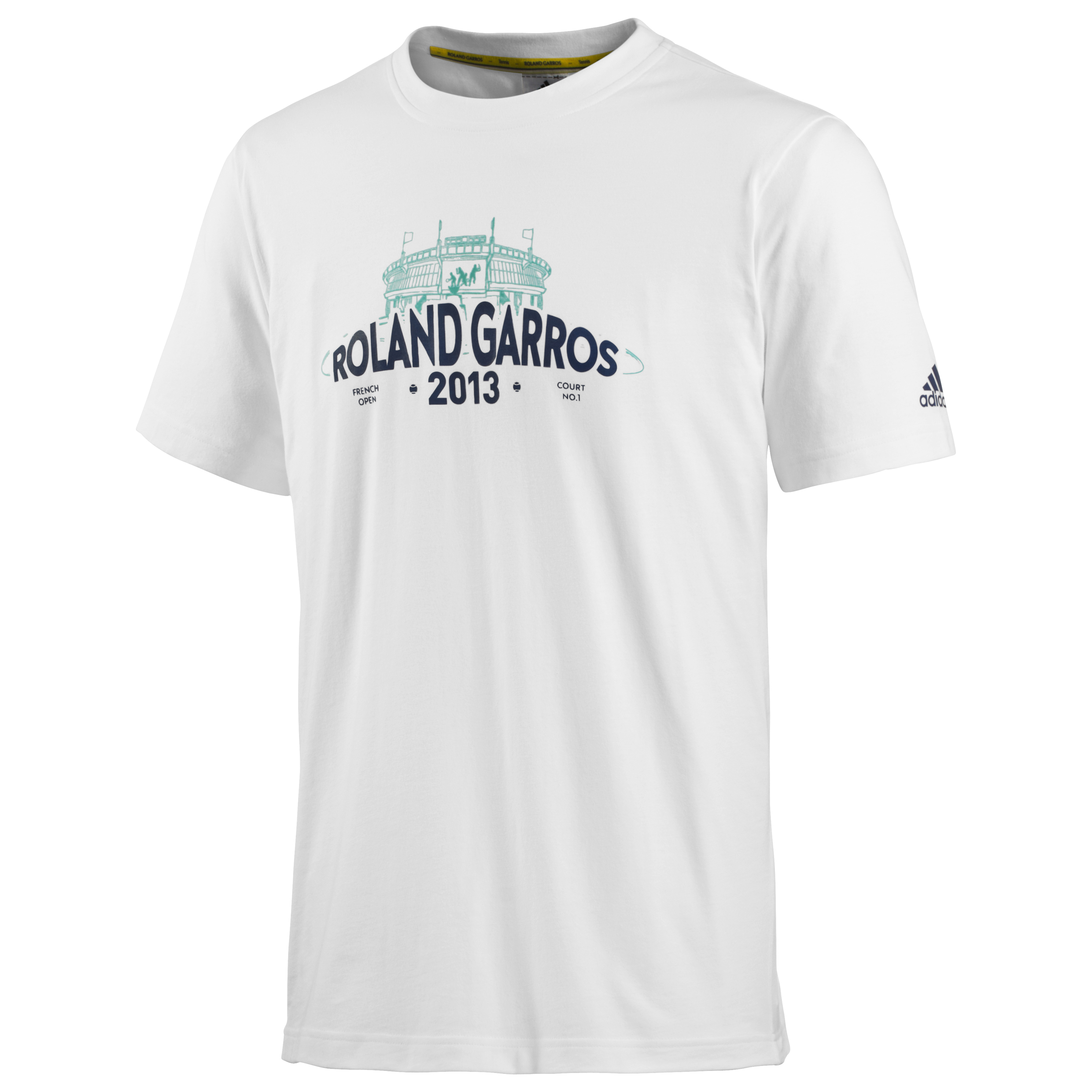 Roland-Garros Logo Graphic T-Shirt - Mens White