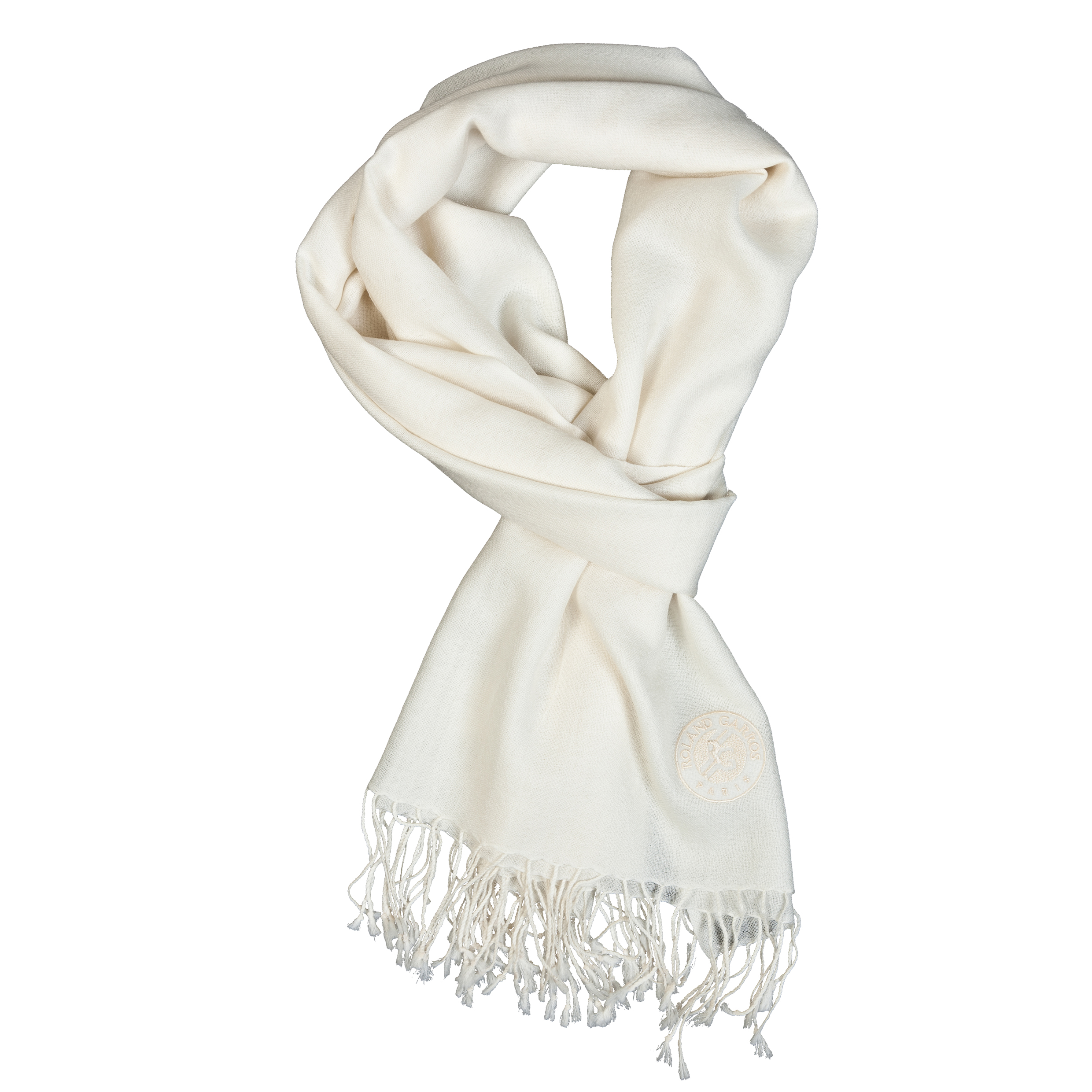 Roland-Garros Logo Embroidered Pashmina Cream
