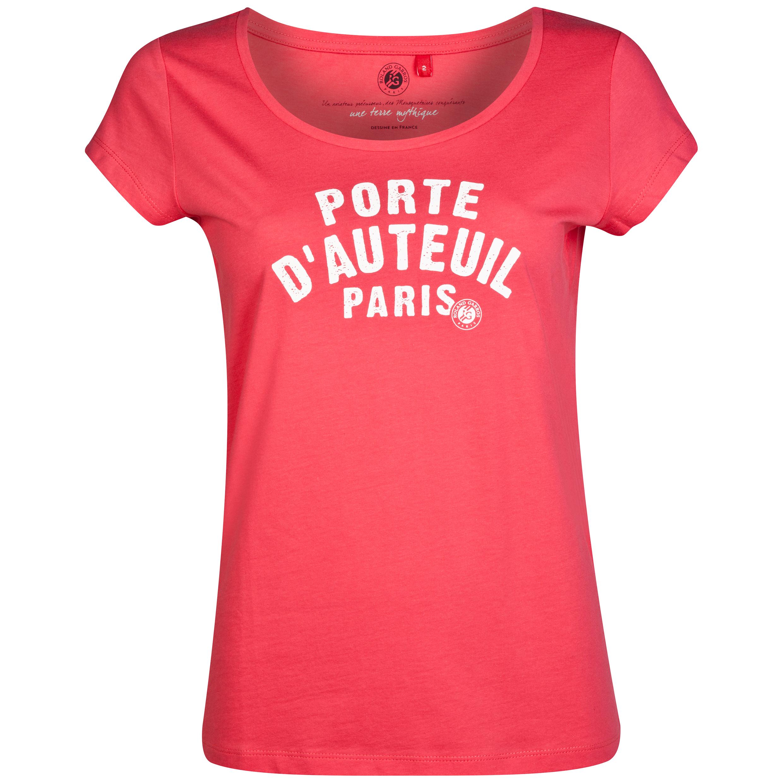 Roland-Garros Bauru Porte DAuteuil T-Shirt - Womens Pink