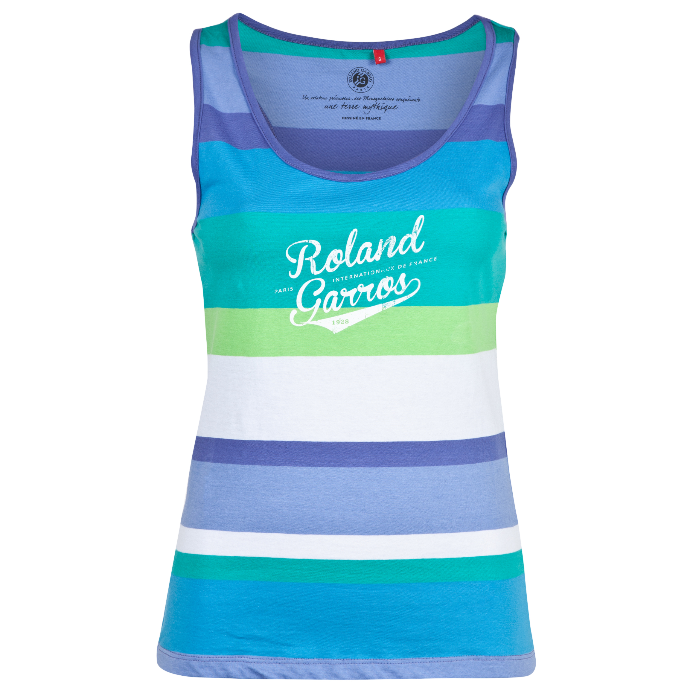 Roland-Garros Batatias Striped Vest - Womens Blue