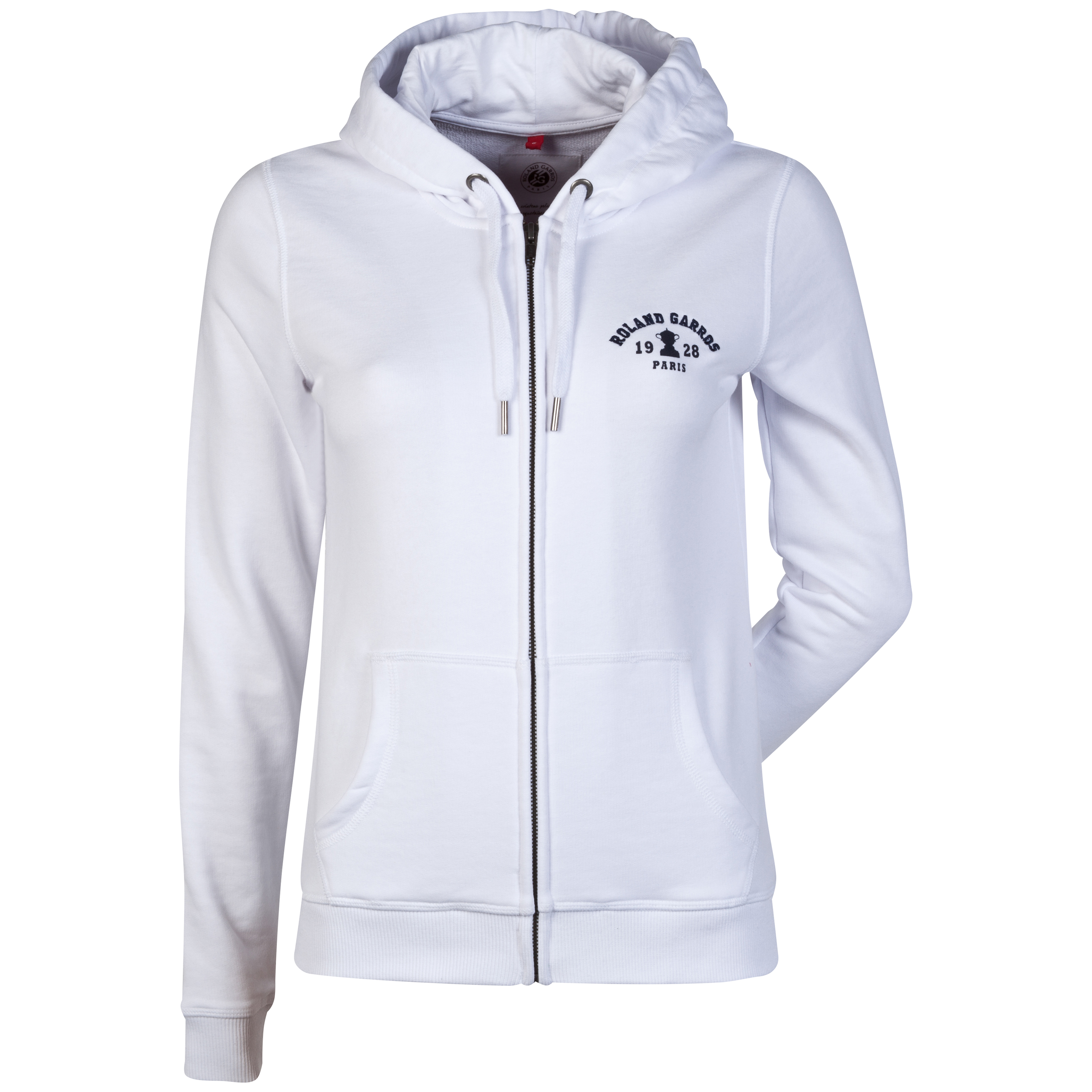 Roland-Garros Barueri Hooded Zip Top - Womens White