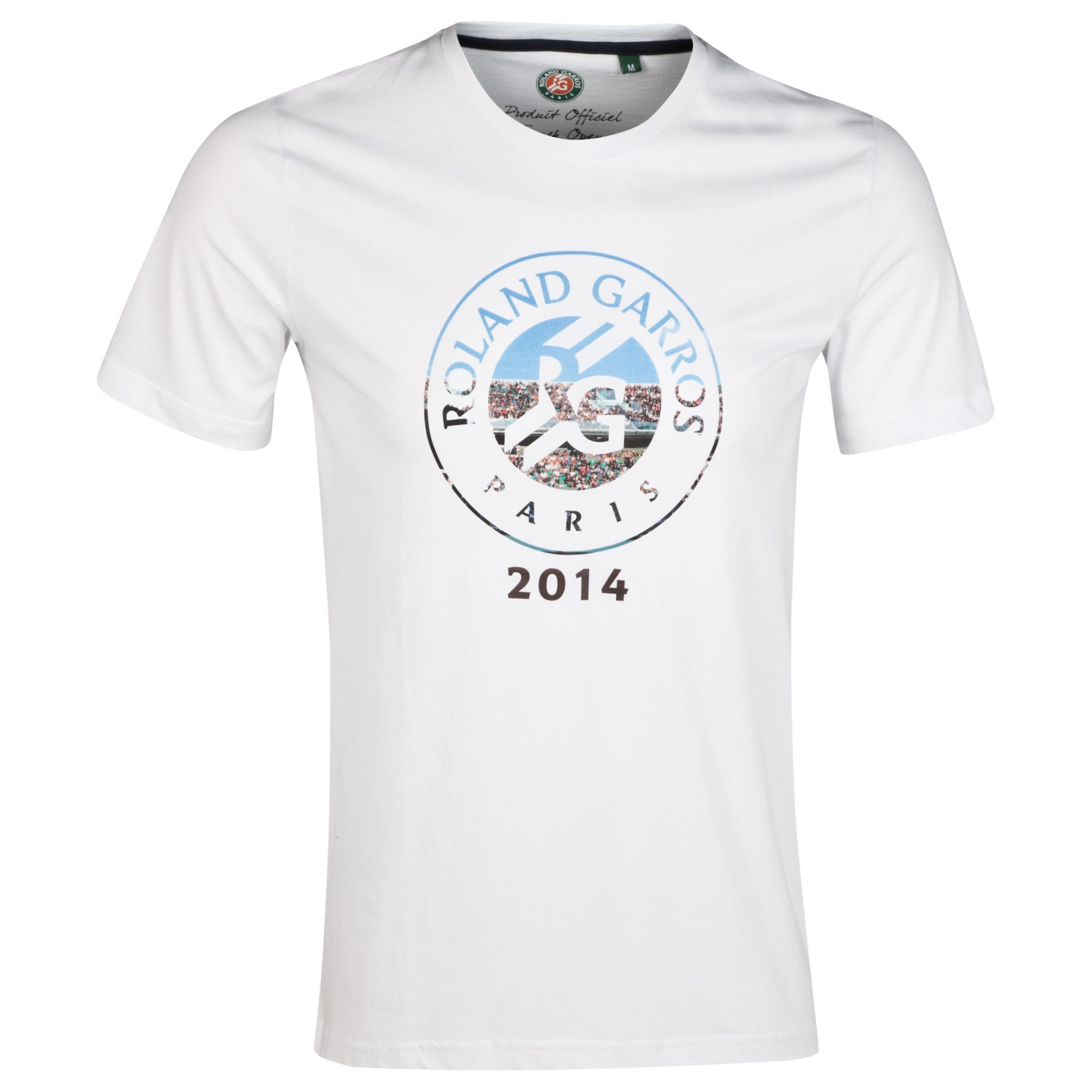 Roland-Garros Mens Logo T-Shirt White
