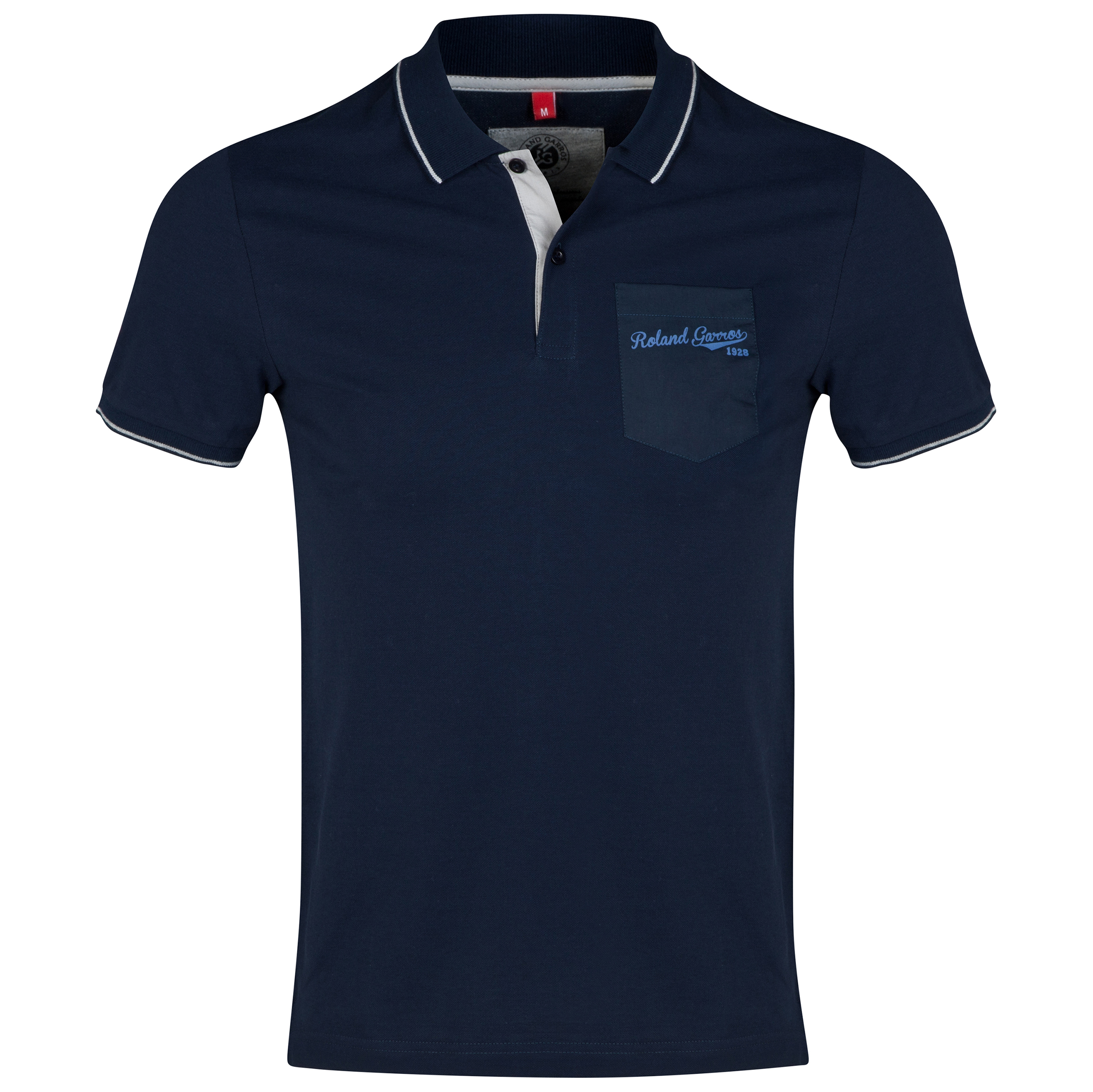 Roland-Garros Atibaia Polo with Pocket Navy
