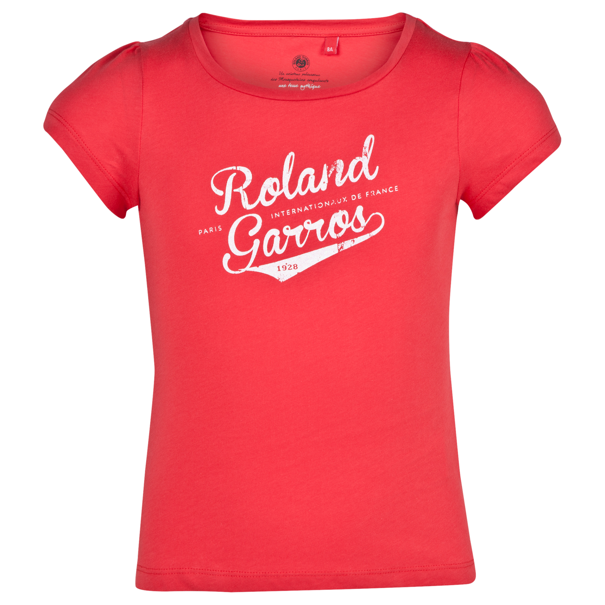 Roland-Garros Barretos College T-Shirt - Girls Red