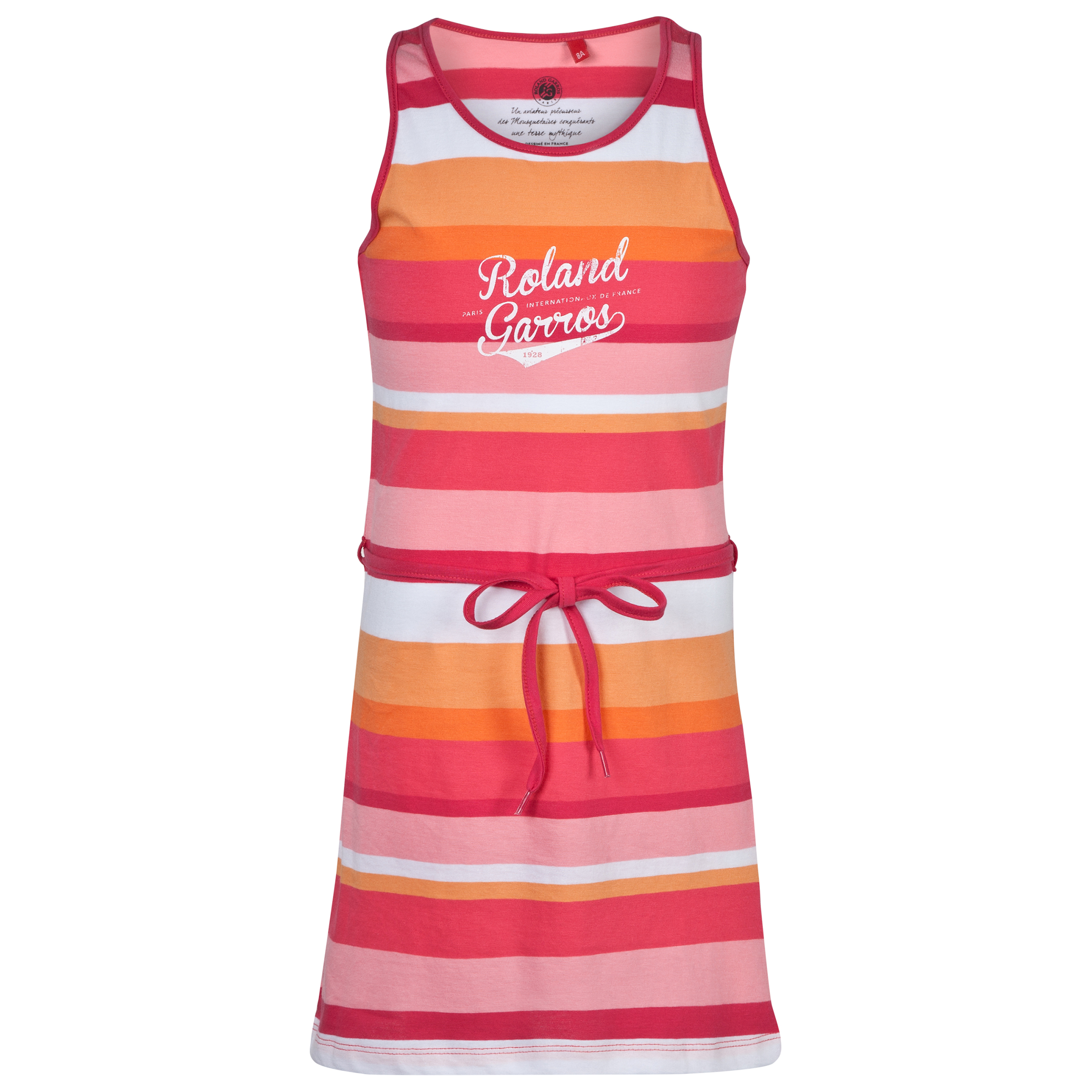 Roland-Garros Dobradia Striped Dress - Girls Red