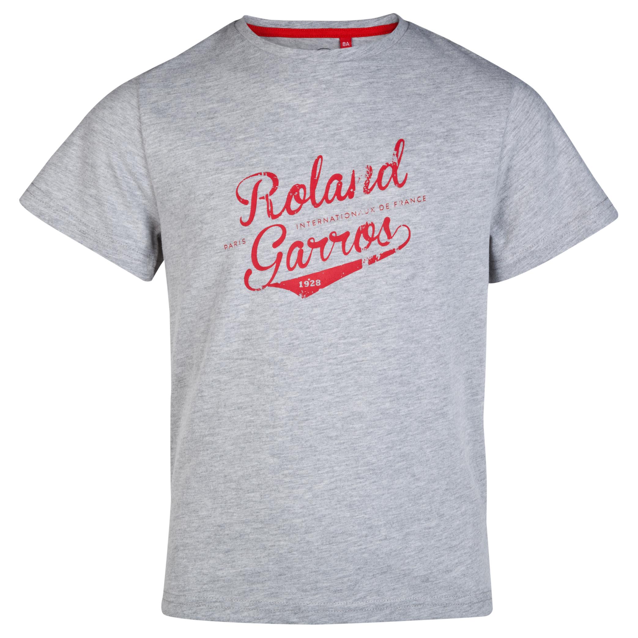 Roland-Garros Alvarres Vintage T-Shirt - Boys Grey